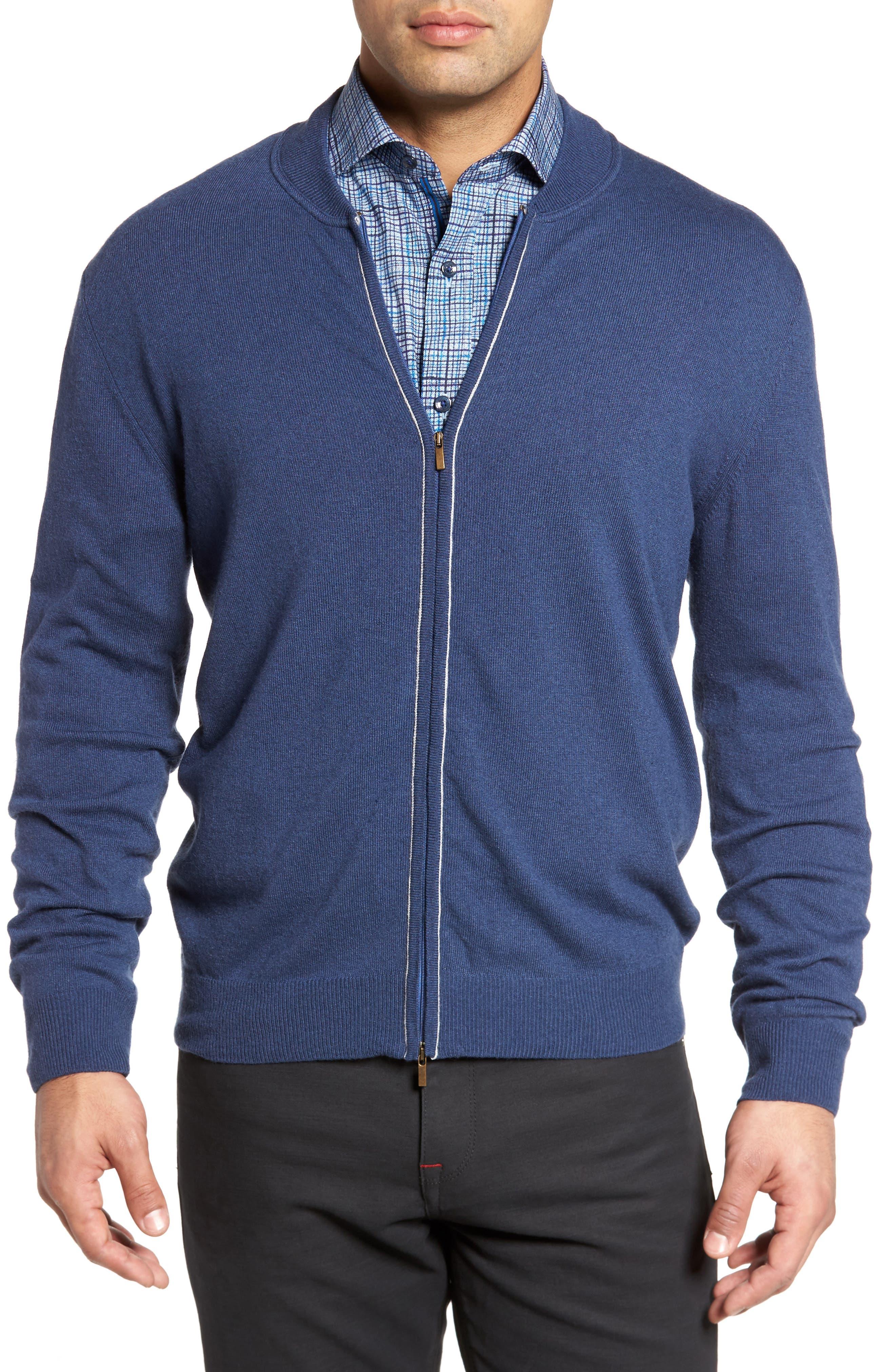 Alternate Image 1 Selected - Bugatchi Zip Sweater