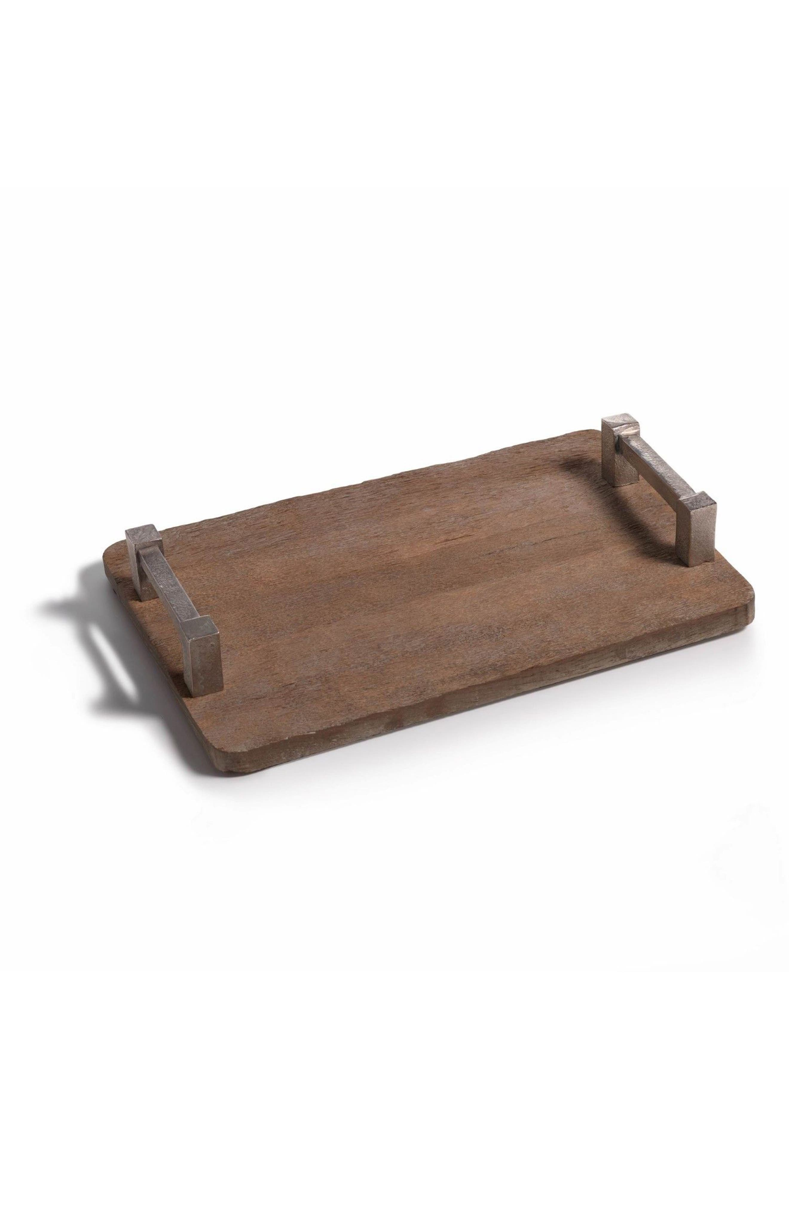 Asval Reclaimed Wood Serving Tray,                             Main thumbnail 1, color,                             Brown