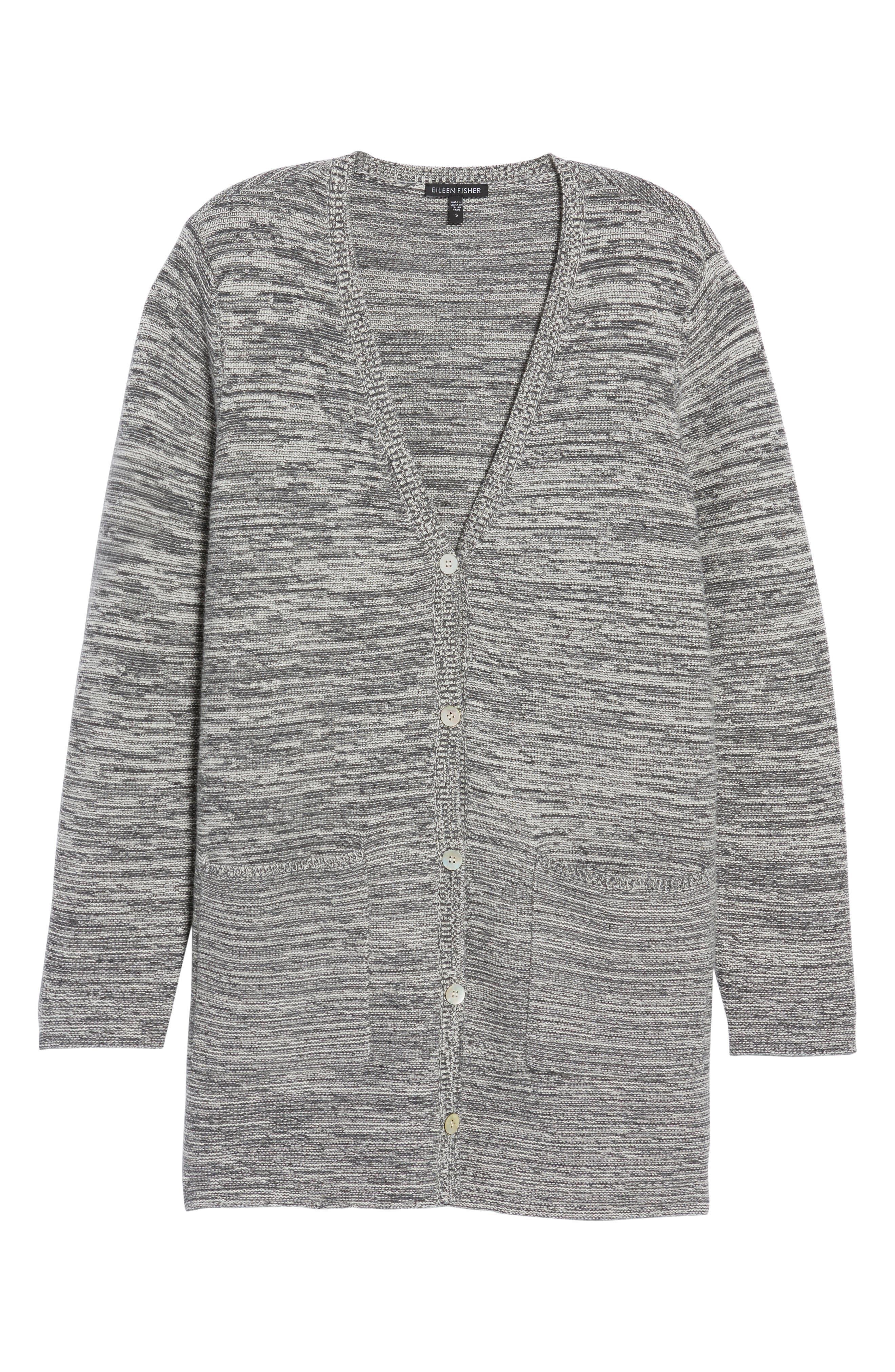 Alternate Image 6  - Eileen Fisher Organic Cotton Blend Boyfriend Cardigan