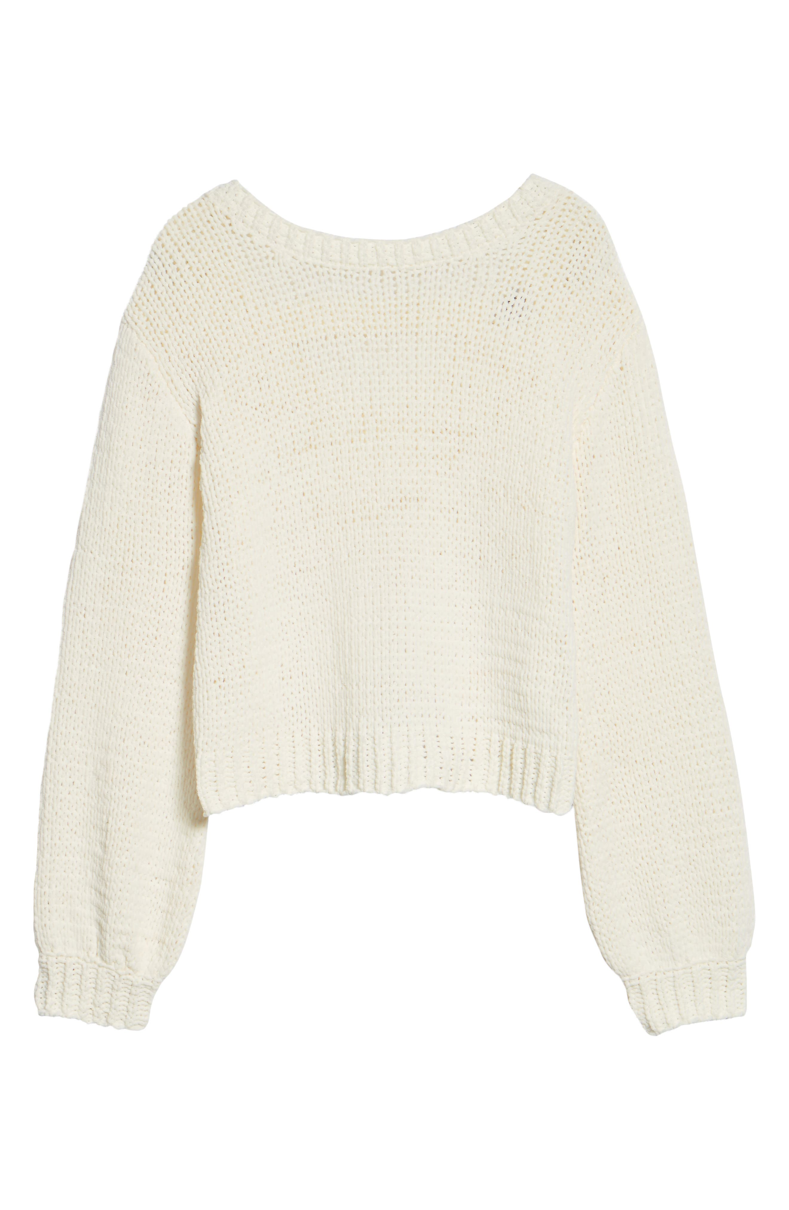 Strappy Sweater,                             Alternate thumbnail 7, color,                             Ivory