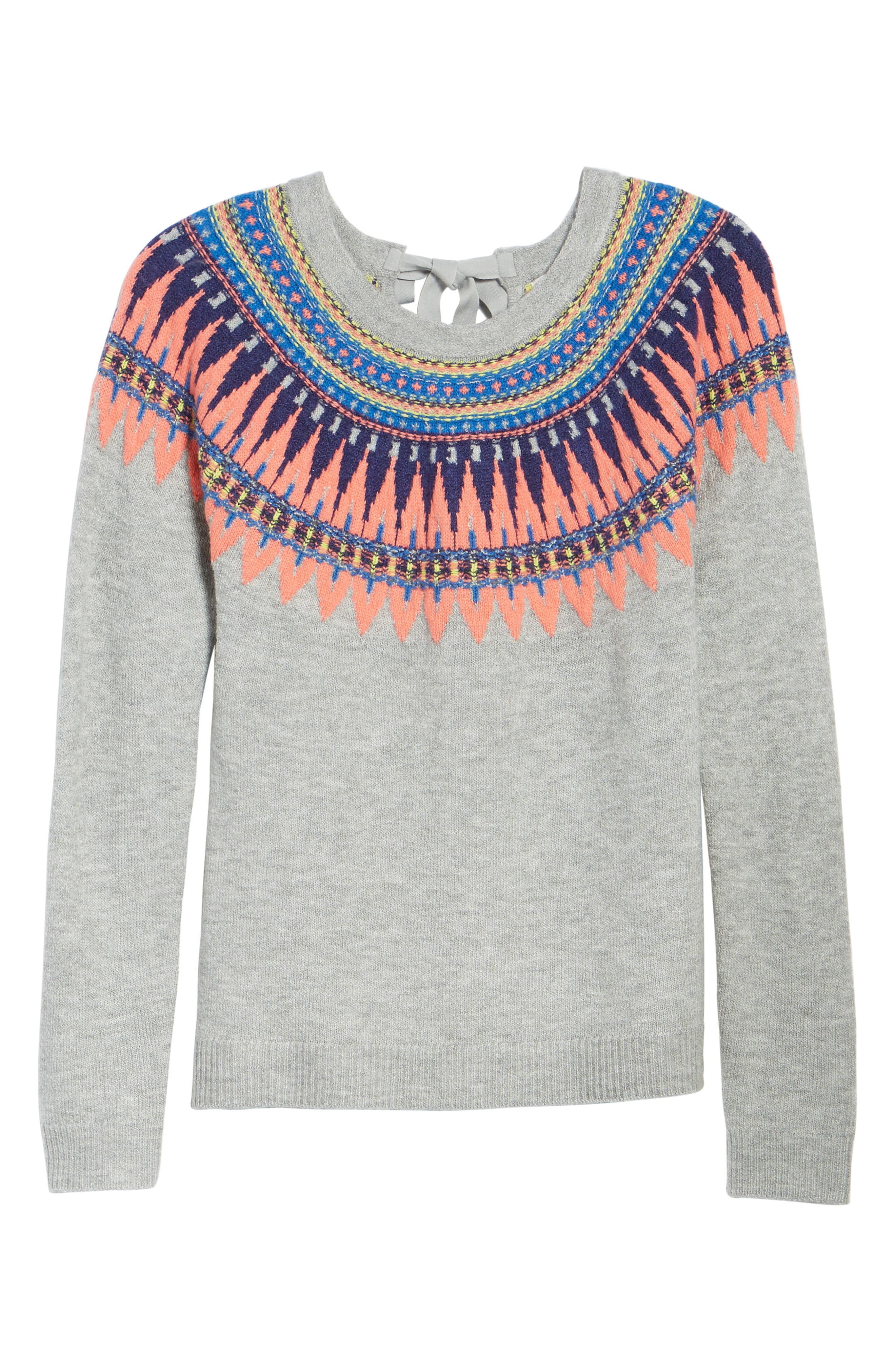 Alternate Image 7  - Caslon® Tie Back Patterned Sweater (Regular & Petite)
