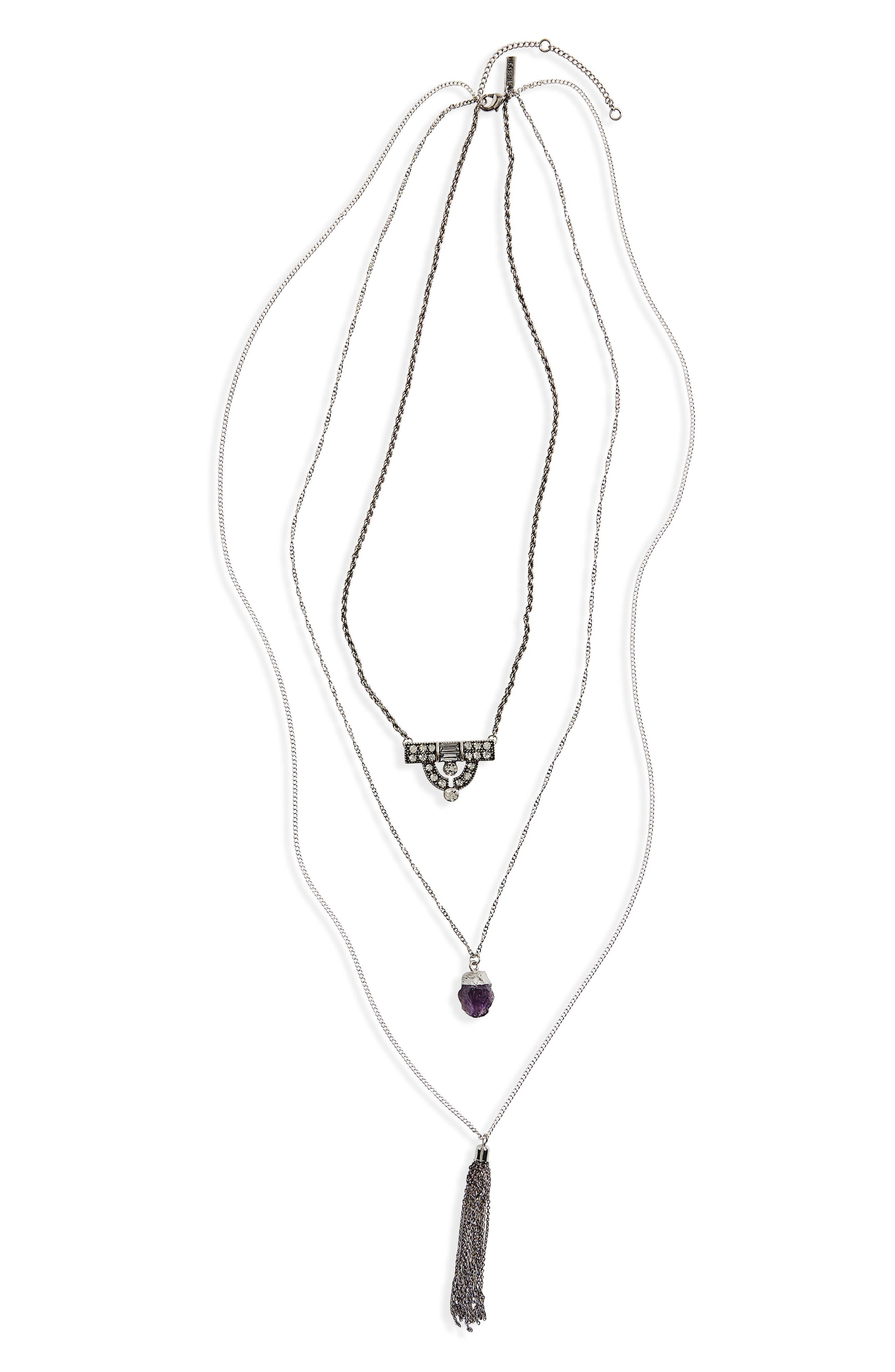 Topshop Multistrand Pendant Necklace