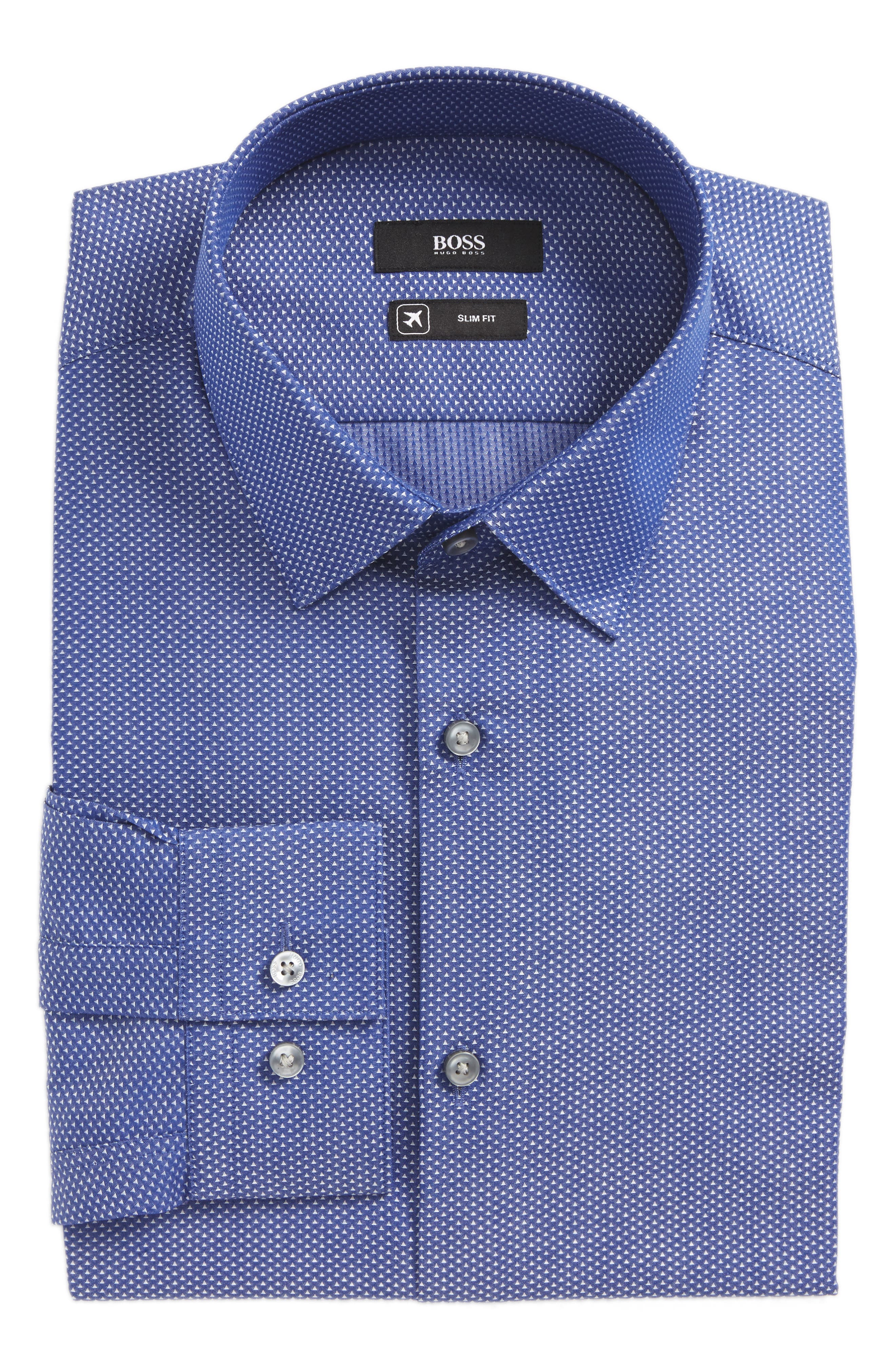 Main Image - BOSS Isko Slim Fit Geometric Dress Shirt