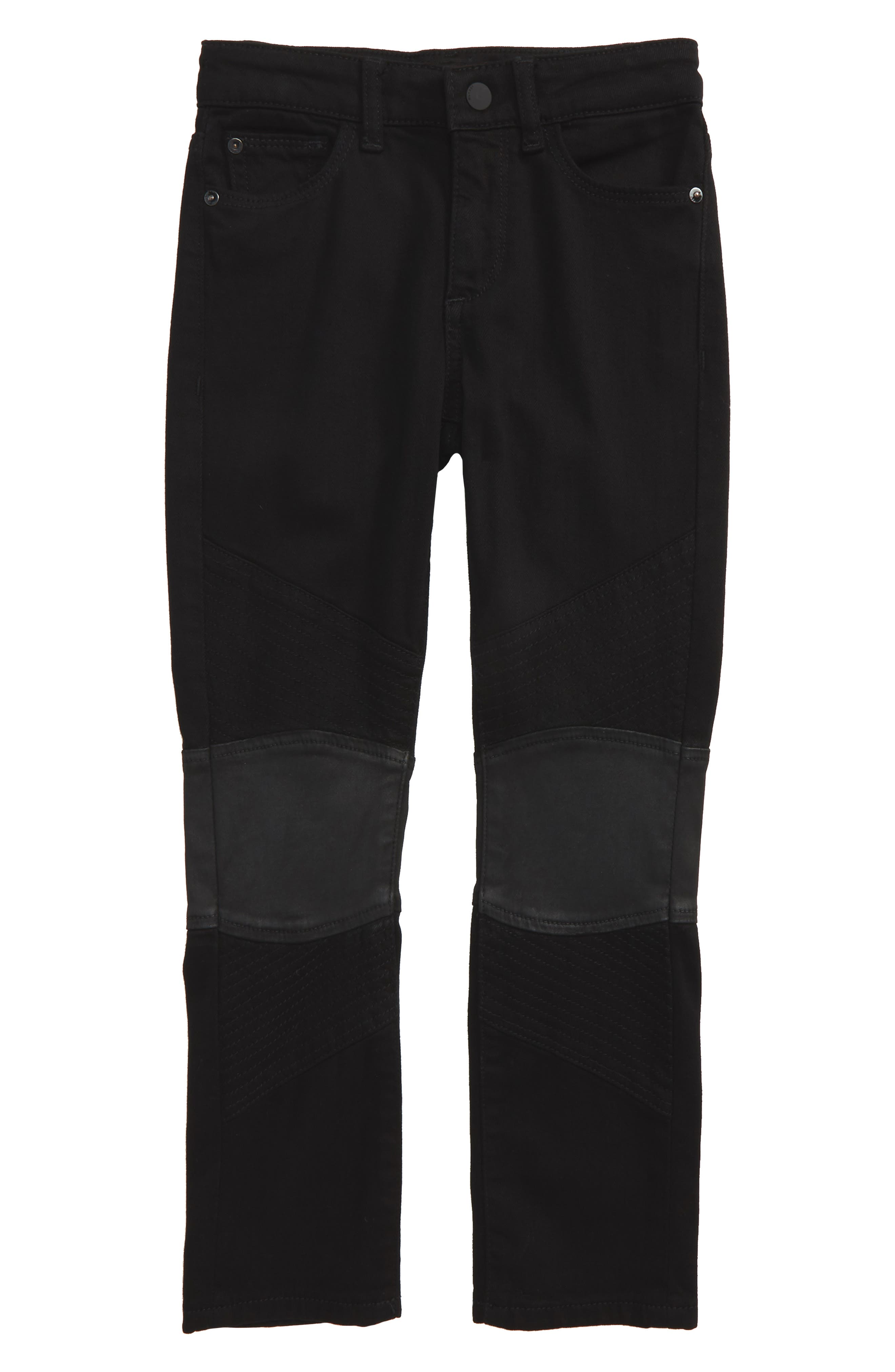 Main Image - DL1961 Hawke Skinny Moto Jeans (Toddler Boys & Little Boys)