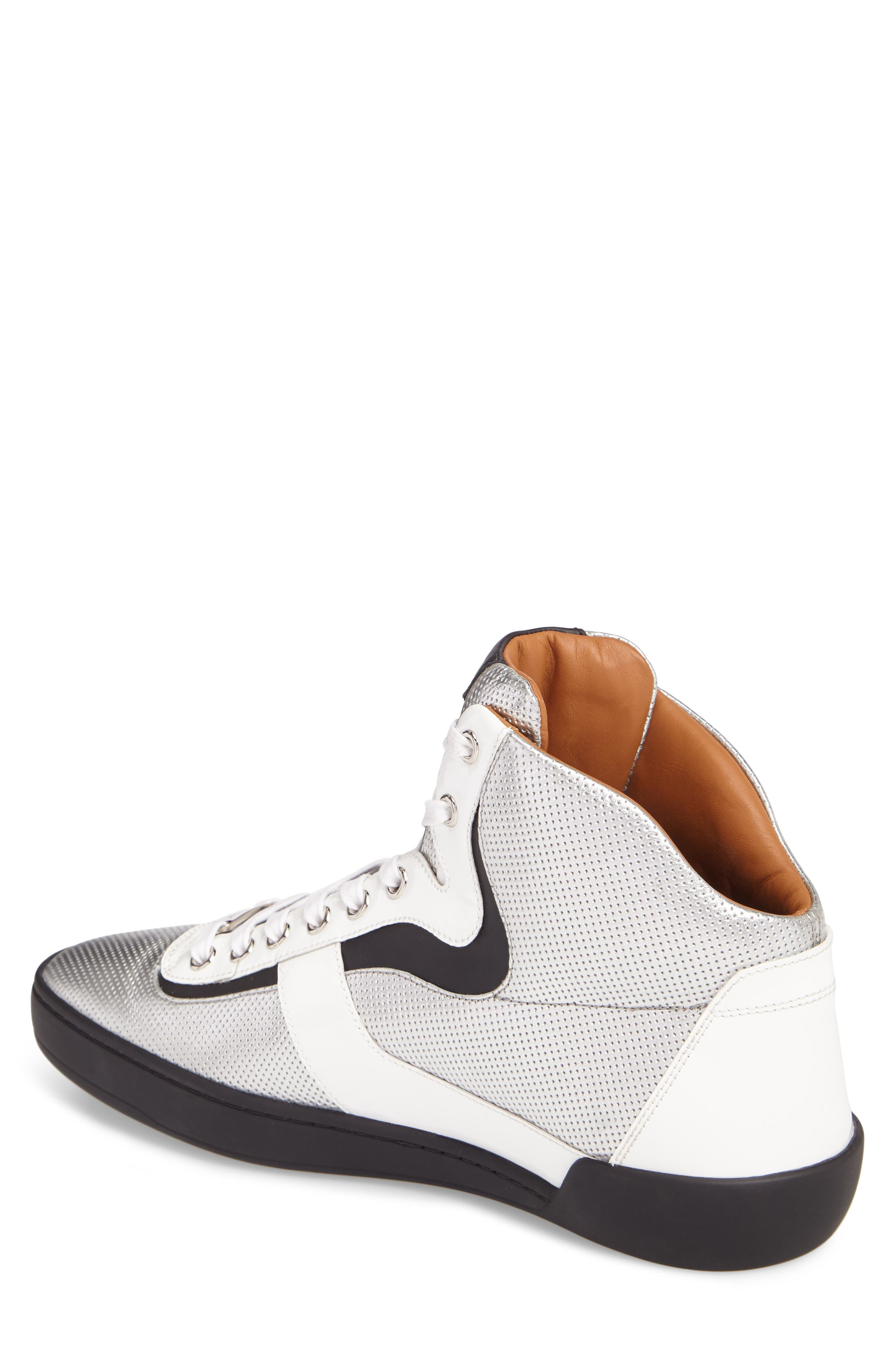 Eroy High Top Sneaker,                             Alternate thumbnail 2, color,                             Silver