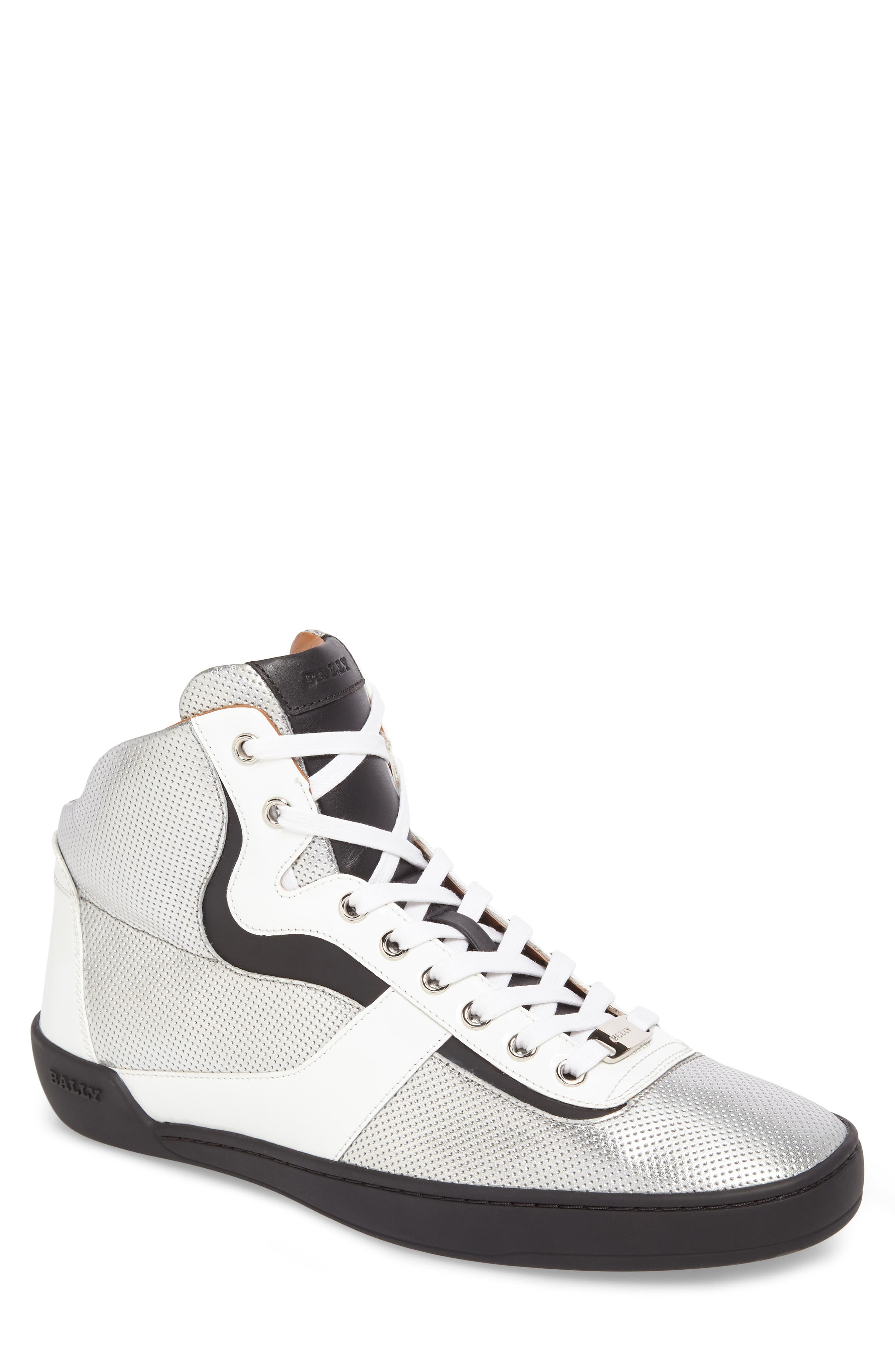 Eroy High Top Sneaker,                         Main,                         color, Silver