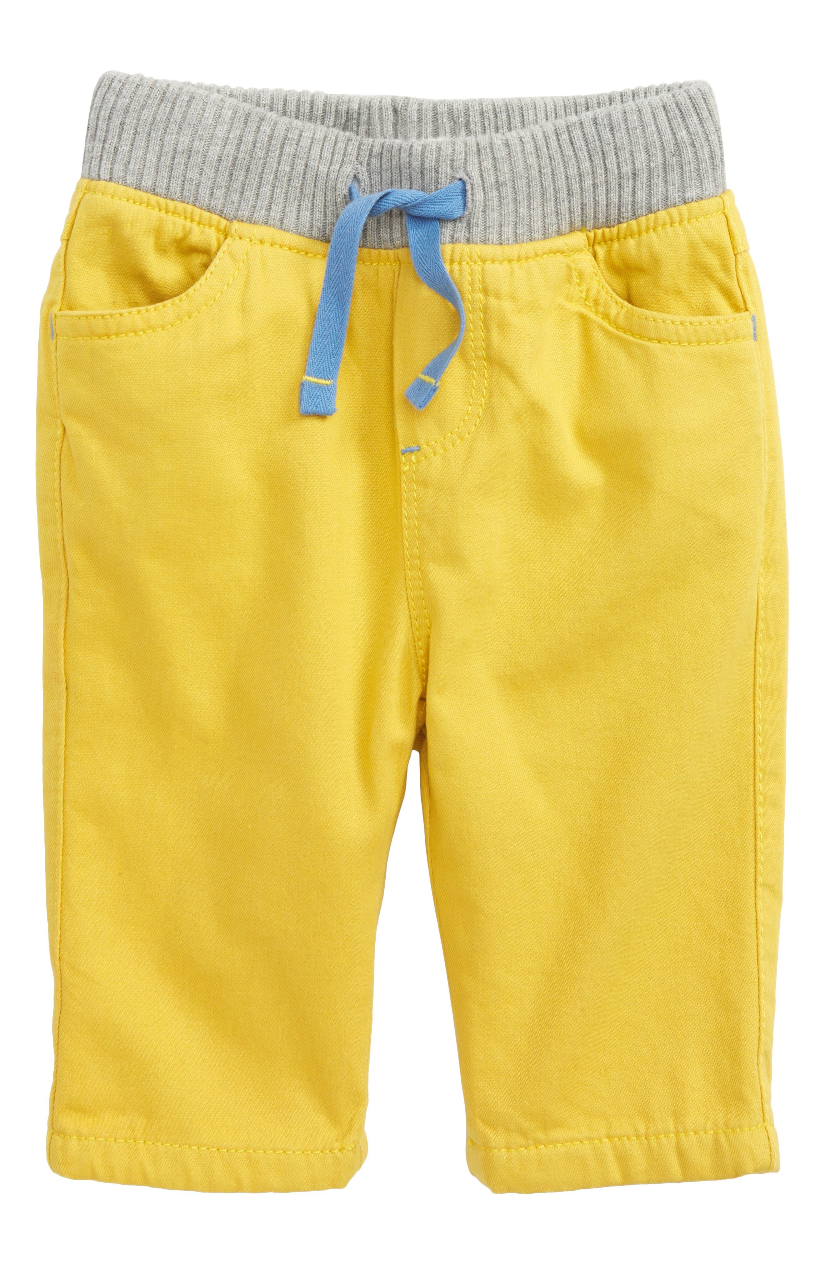 Mini Boden Rib Waist Pants (Baby Boys & Toddler Boys)