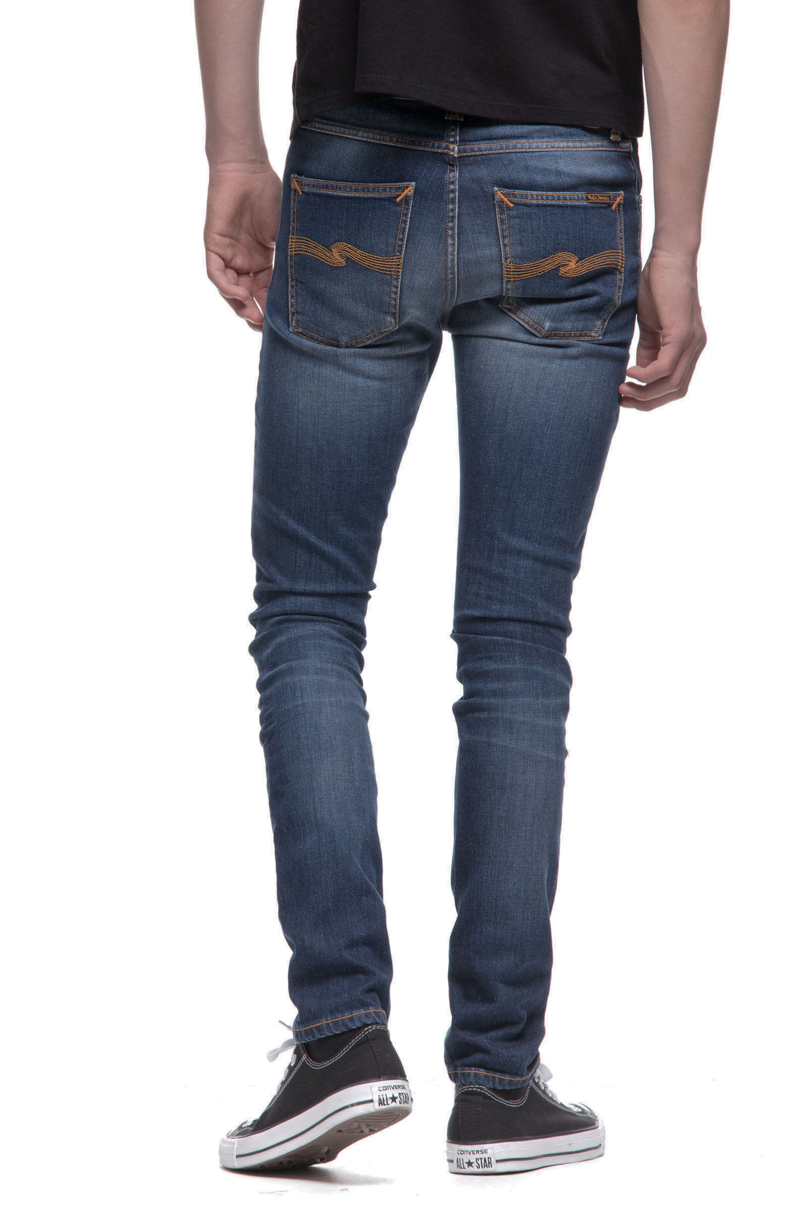 Alternate Image 2  - Nudie Jeans Lean Dean Slouchy Slim Fit Jeans (Blue Ridge)