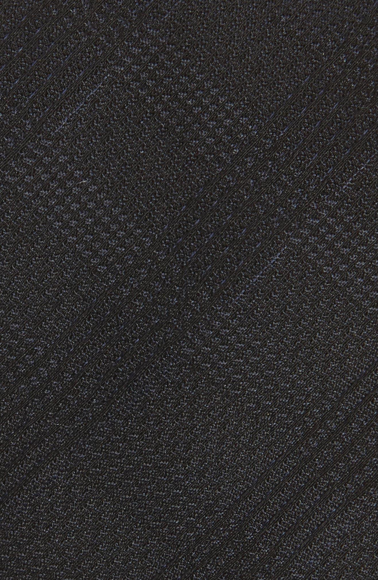 Check Weave Tie,                             Alternate thumbnail 2, color,                             Black