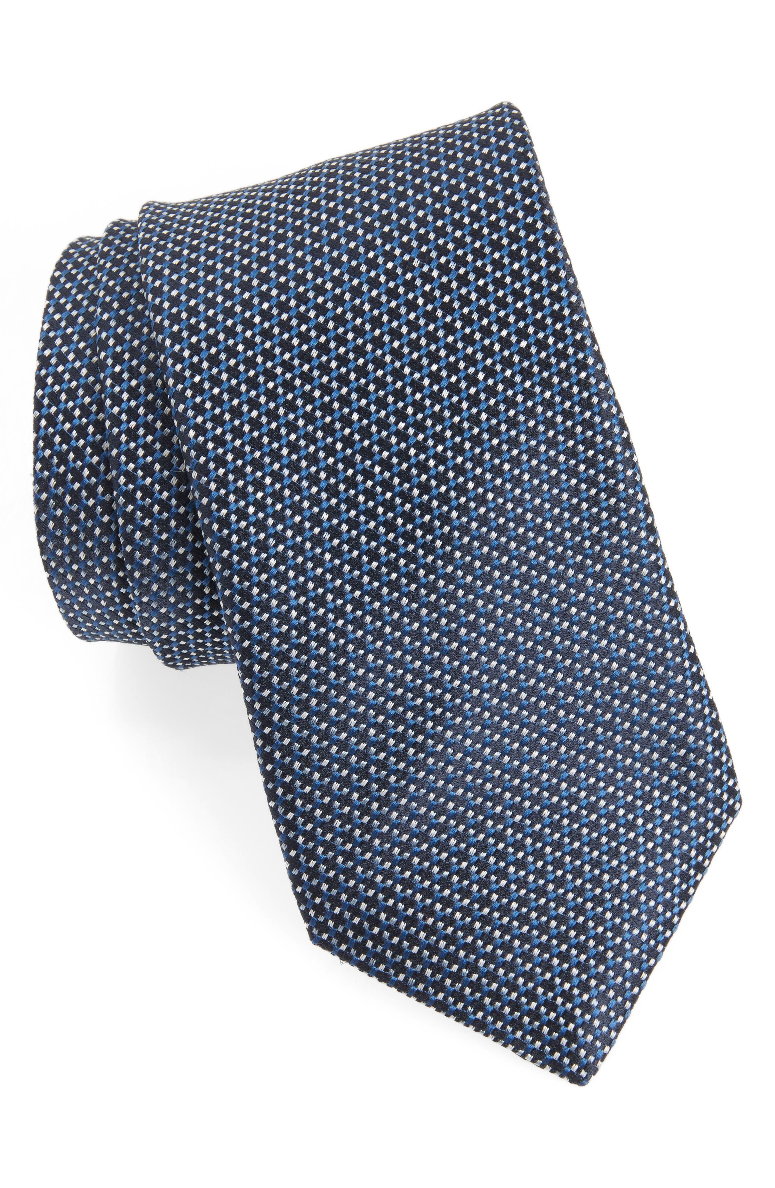 Geometric Tie,                             Main thumbnail 1, color,                             Stream Blue