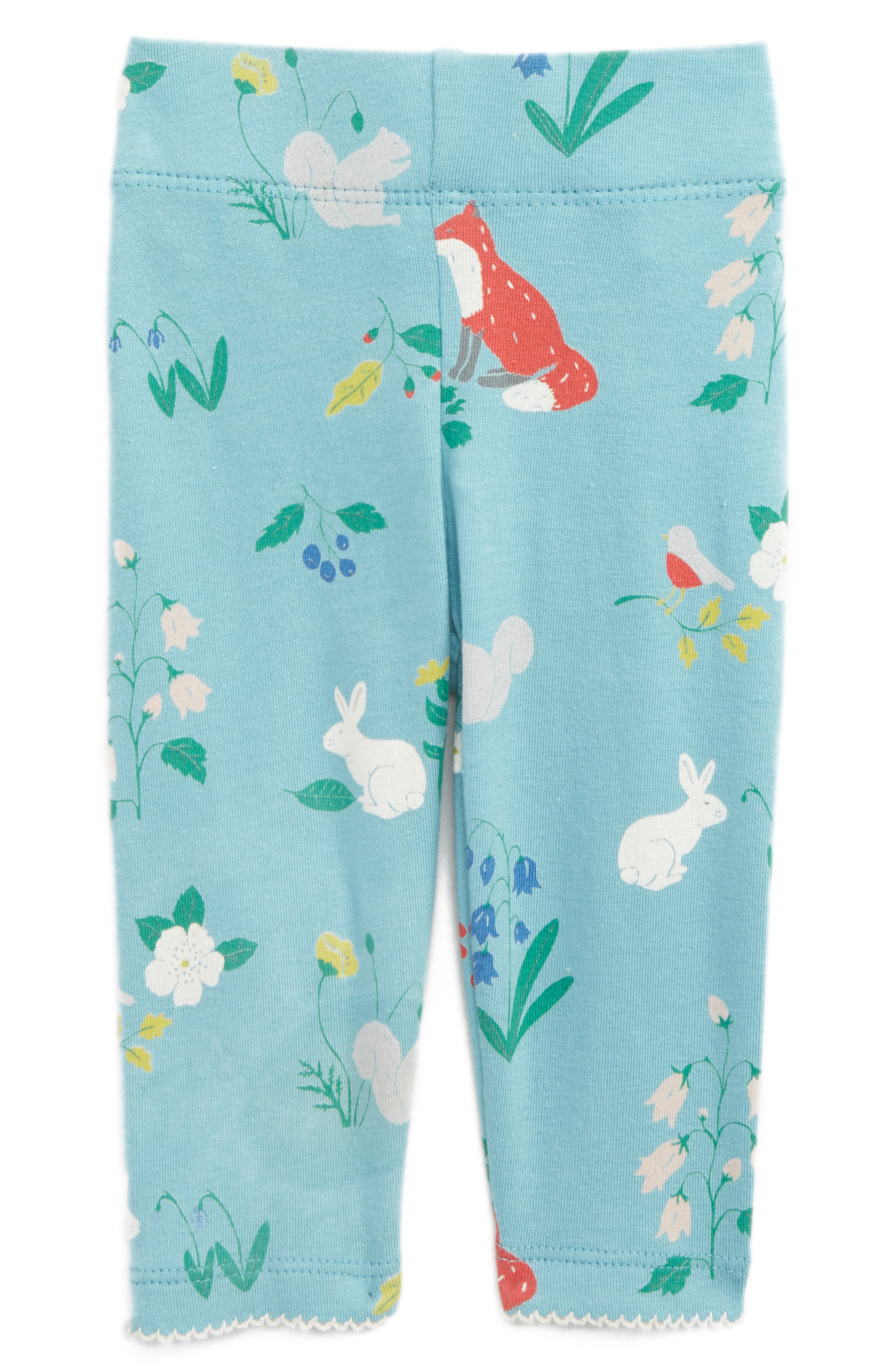 Mini Boden Floral Print Leggings (Baby Girls & Toddler Girls)