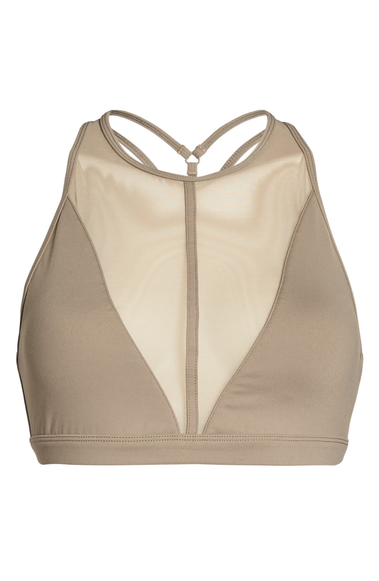 Alternate Image 7  - Alo Empower High Neck Mesh Yoga Bra