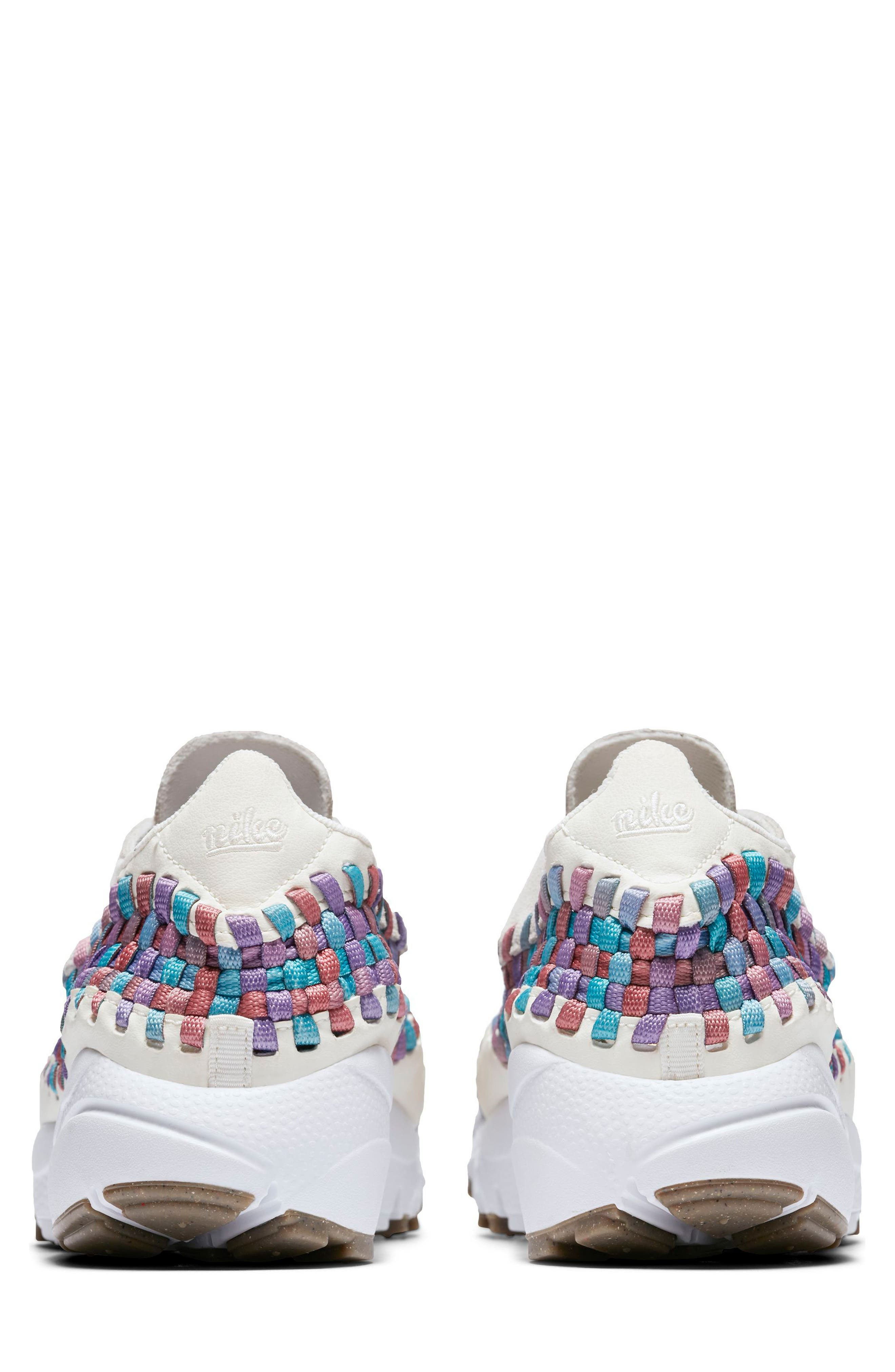 Air Footscape Woven Sneaker,                             Alternate thumbnail 4, color,                             Sail/ White/ Red/ Teal/ Gum