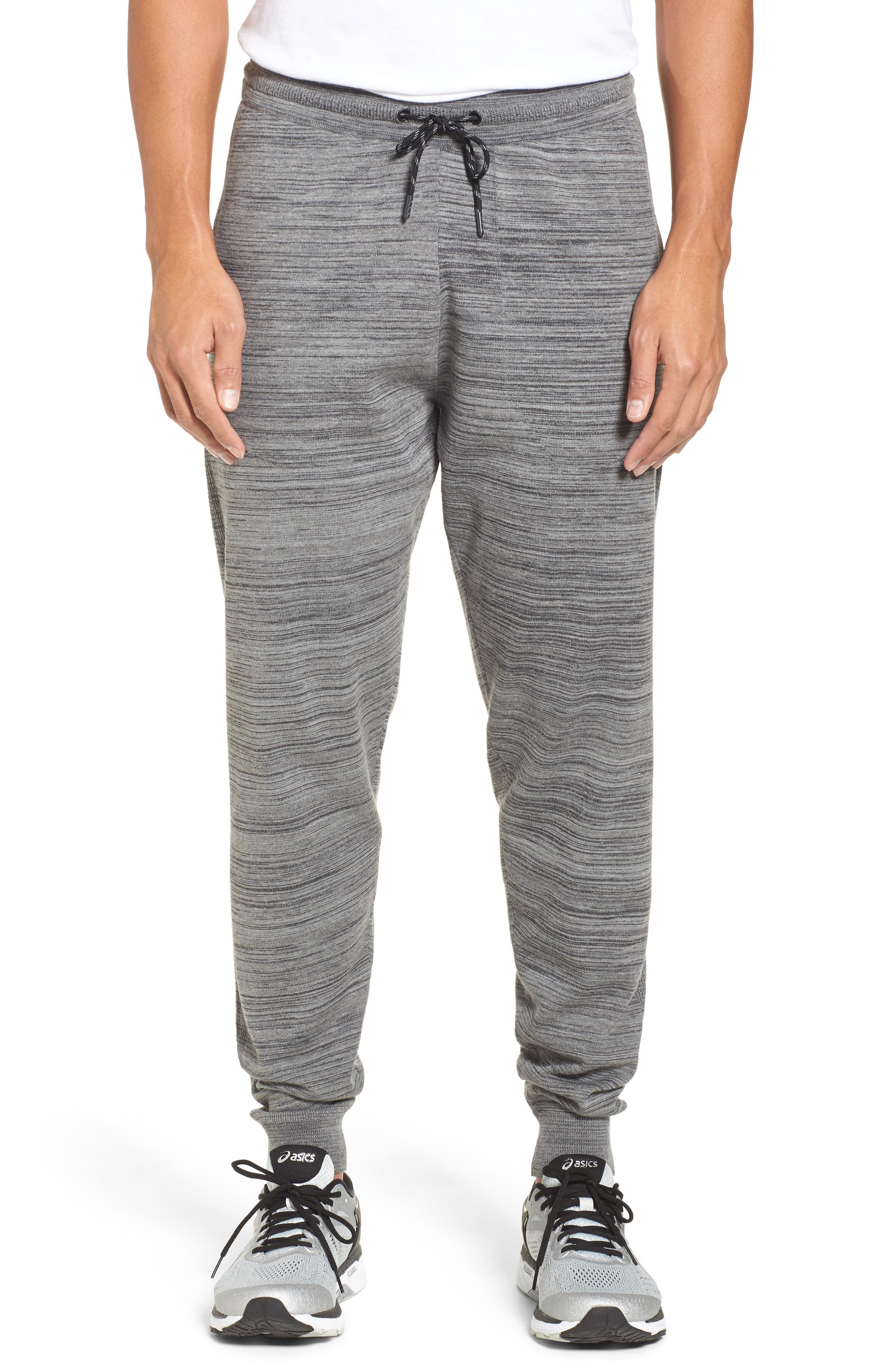 Tech Sweater Knit Jogger Pants,                             Main thumbnail 1, color,                             Grey Obsidian Spacedye