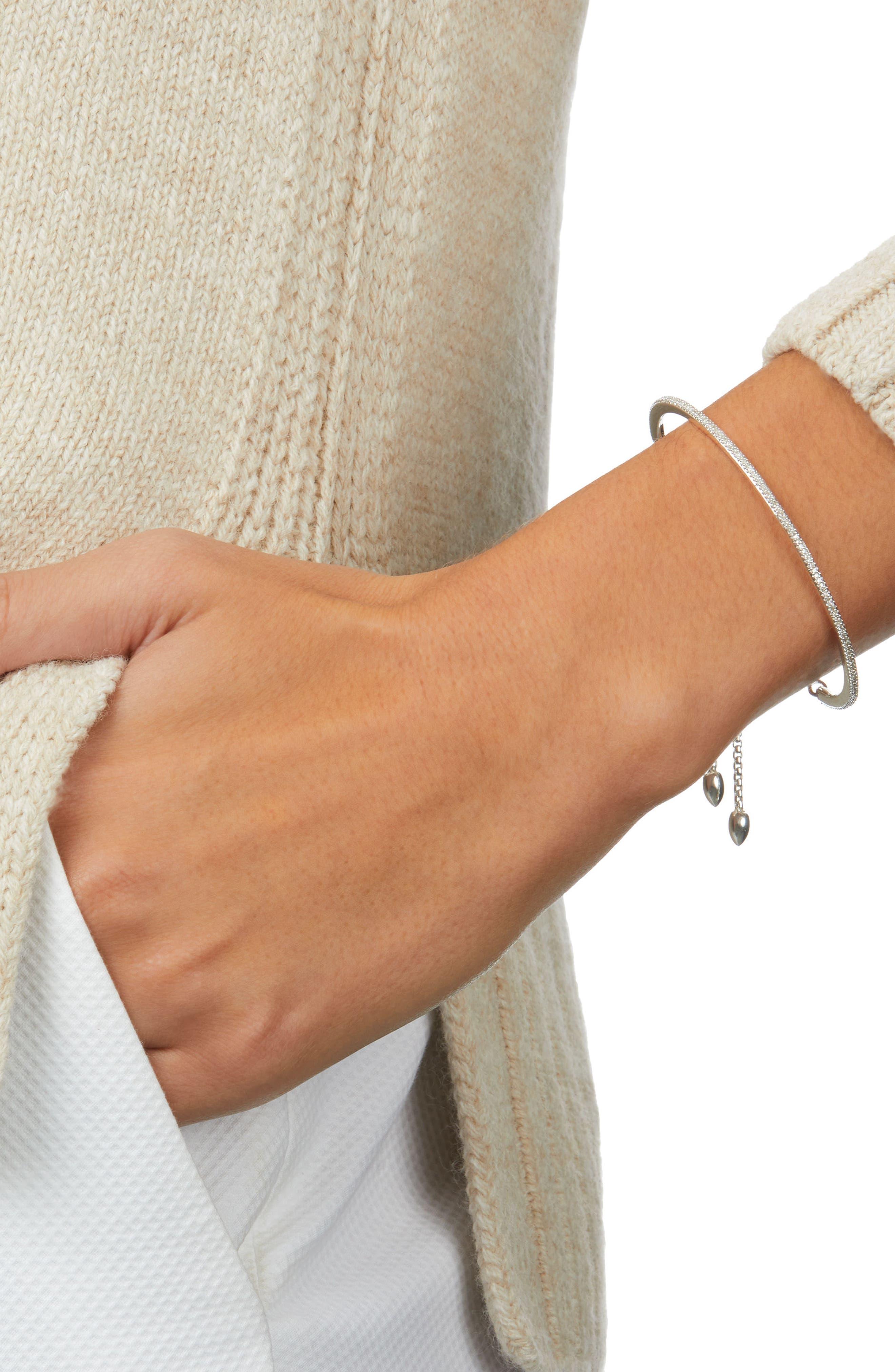 Alternate Image 2  - Monica Vinader Fiji Skinny Vermeil Diamond Bar Bracelet