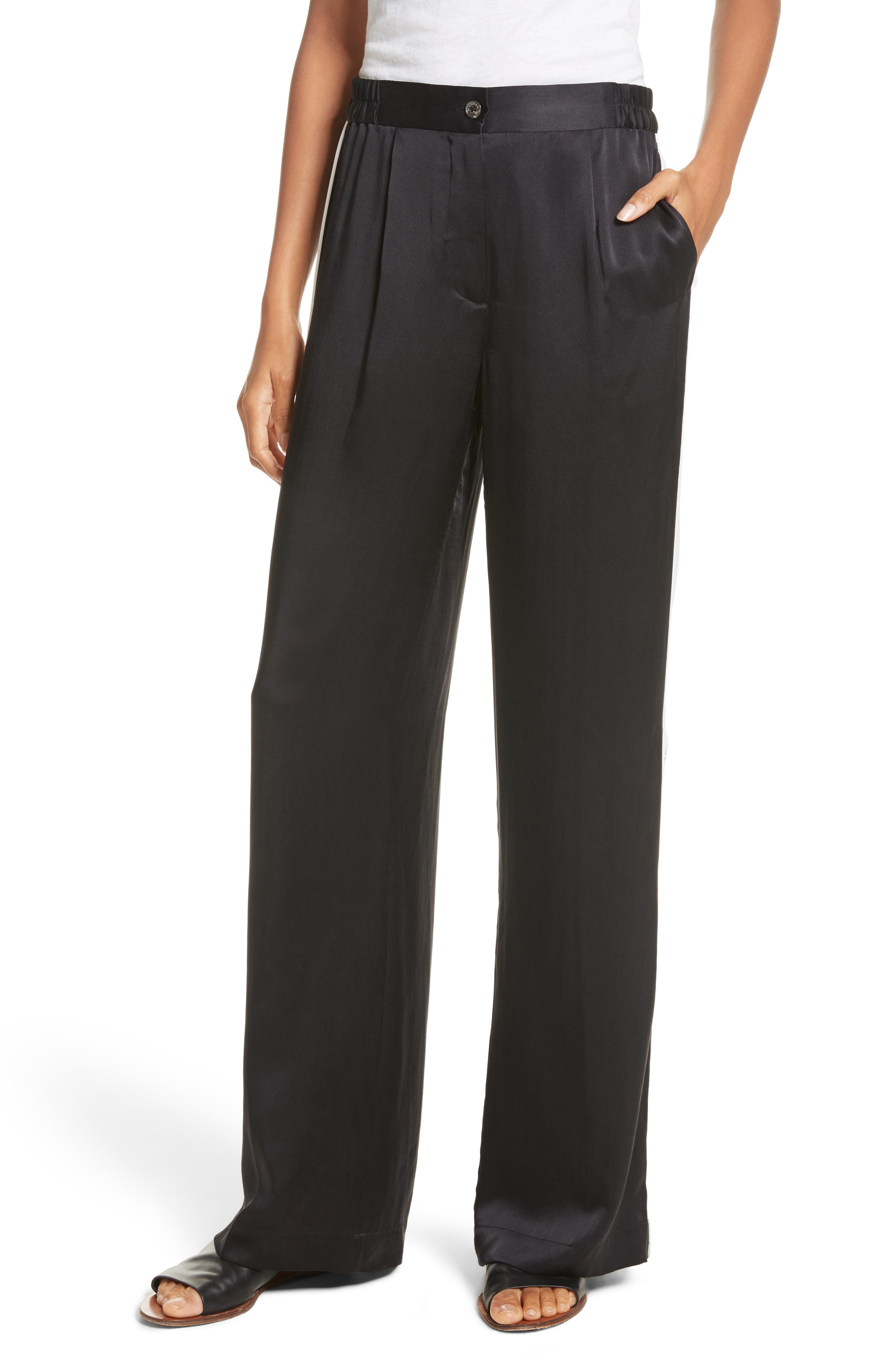 Alternate Image 1 Selected - Equipment Arwen Wide Leg Silk Pants