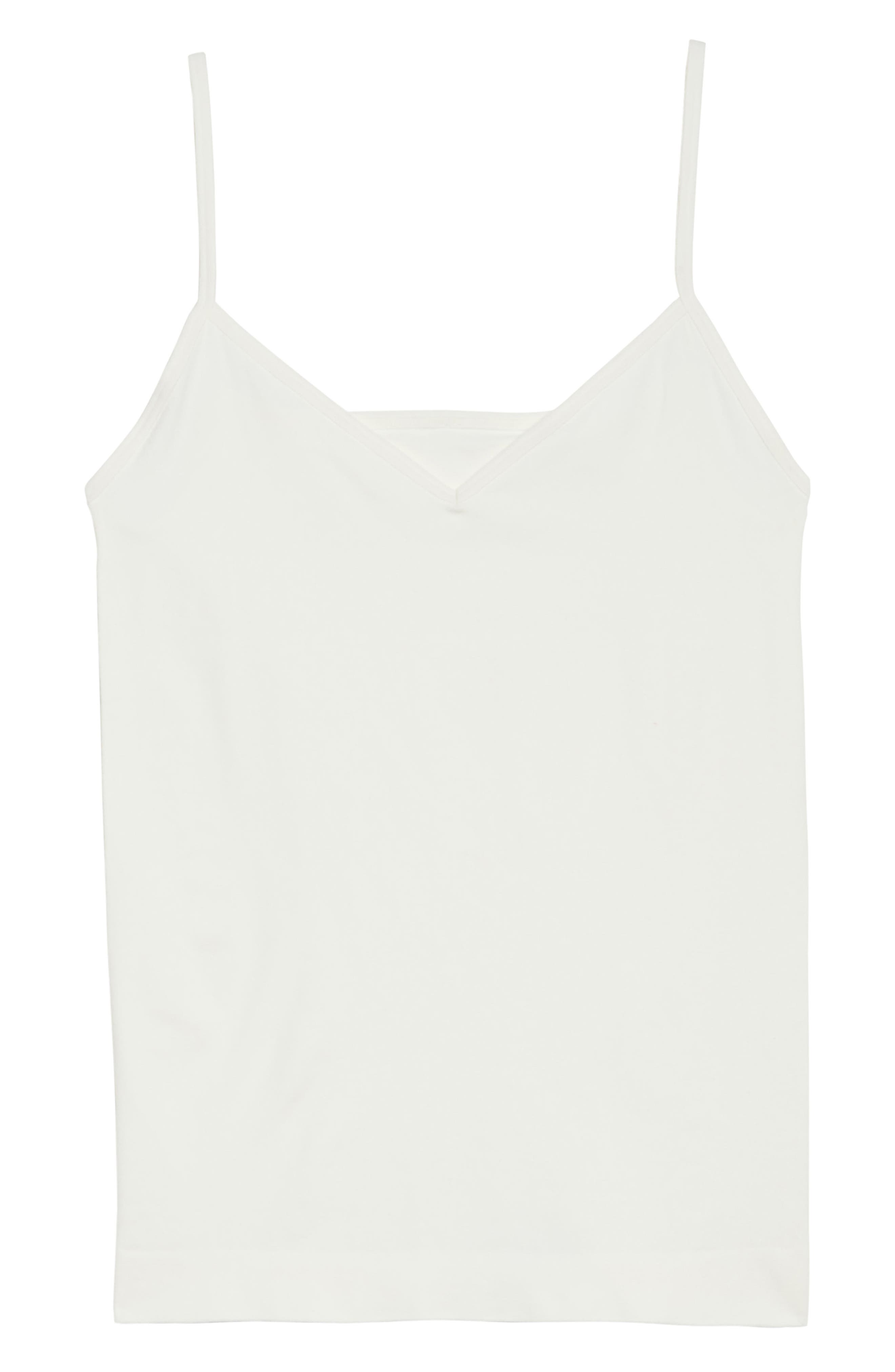 Seamless Two-Way Camisole,                             Alternate thumbnail 6, color,                             Ivory Egret