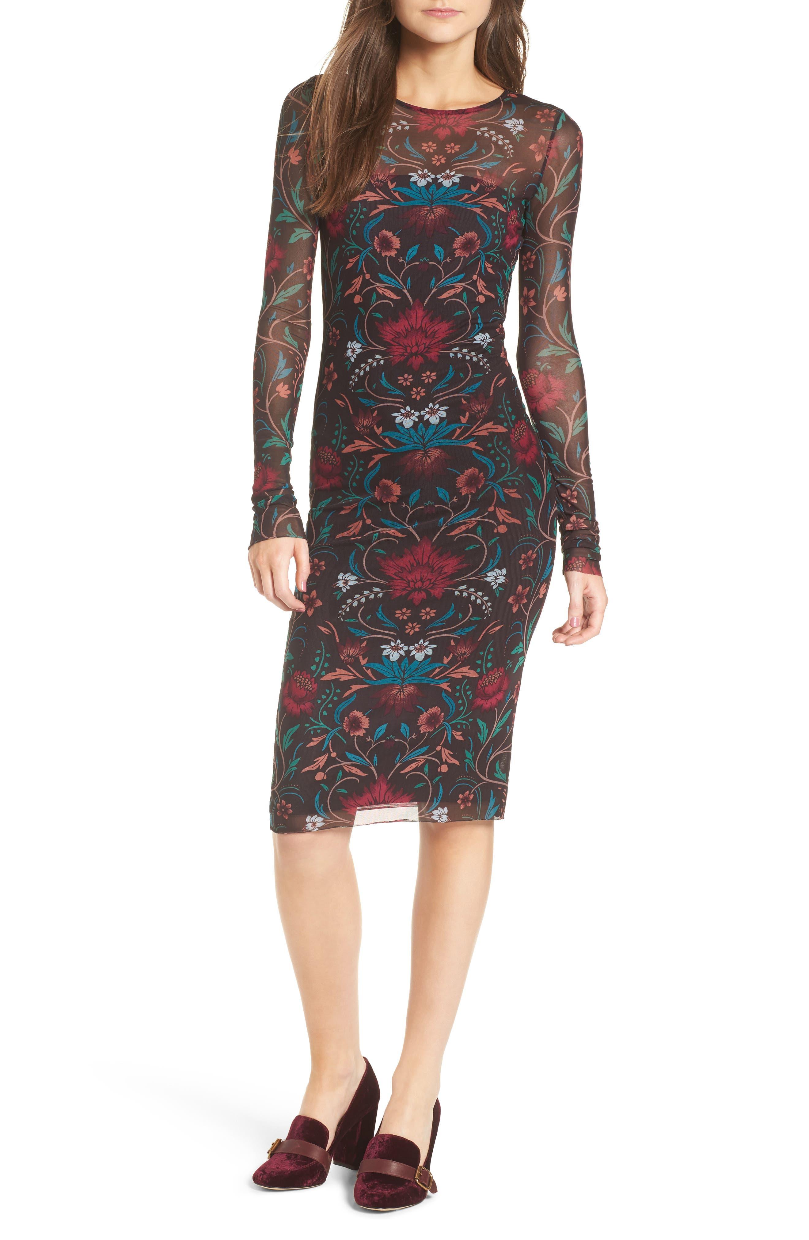Main Image - Stone Row Keep It Fly Mesh Dress