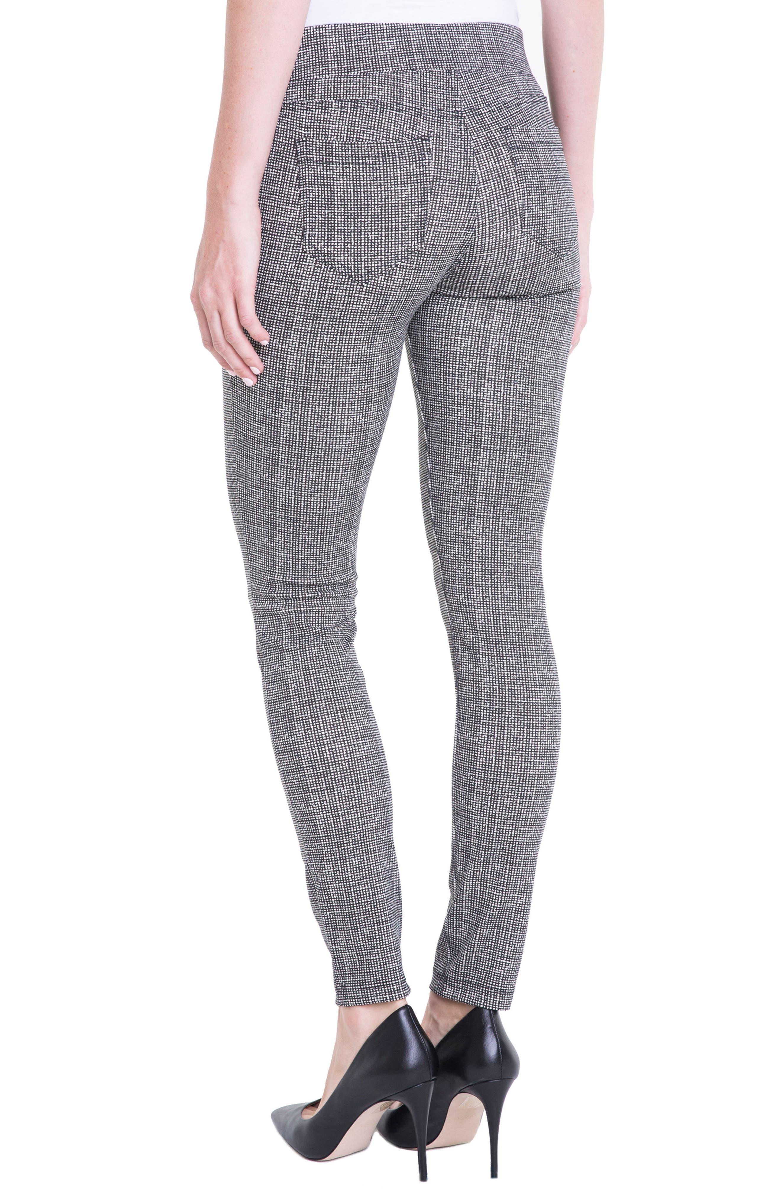 Sienna Pull-On Leggings,                             Alternate thumbnail 2, color,                             White Whisper Tweed