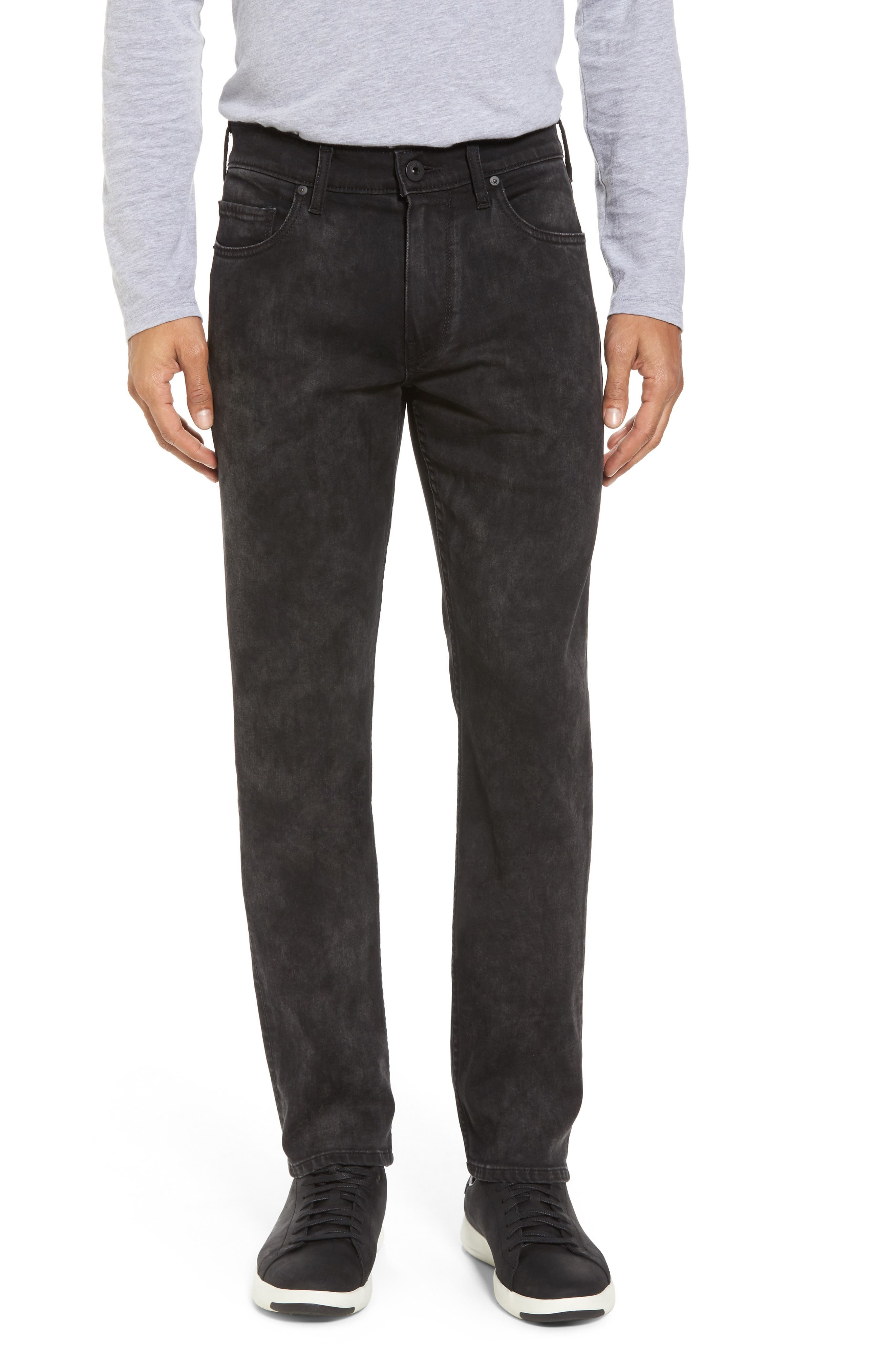 PAIGE Lennox Slim Fit Jeans (Smoke Mineral)