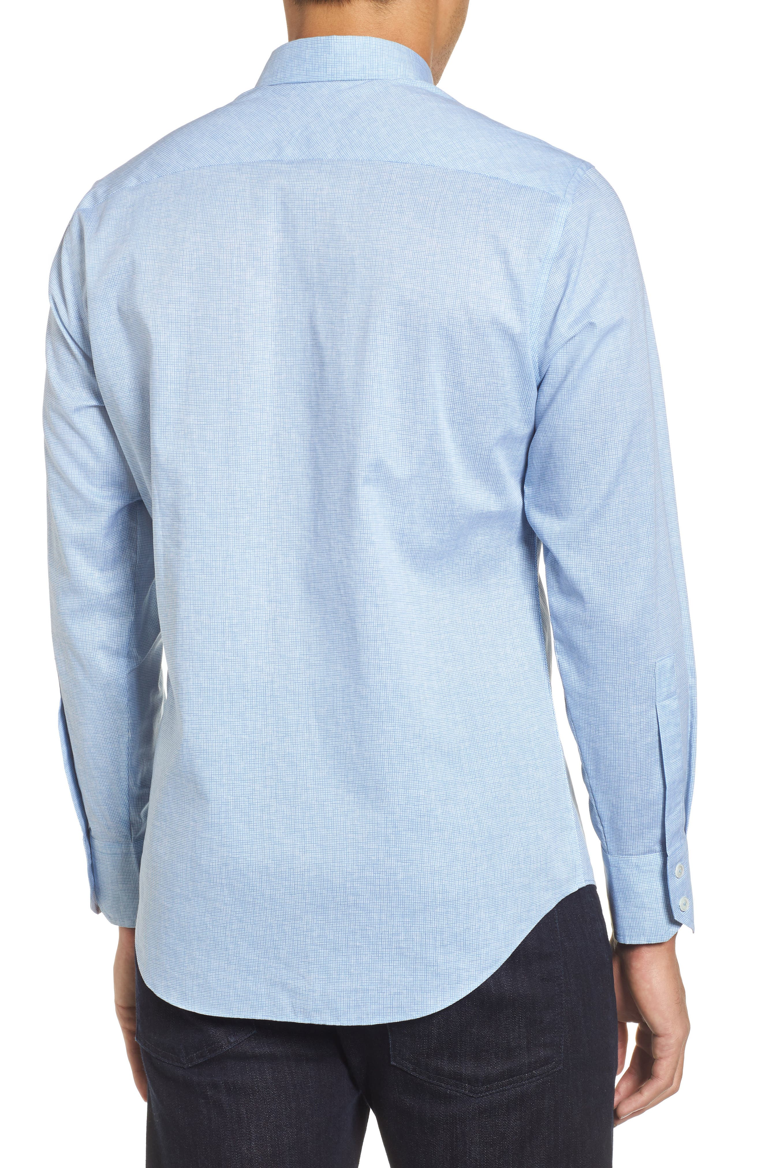 Forrest Textured Woven Sport Shirt,                             Alternate thumbnail 2, color,                             Ice Blue