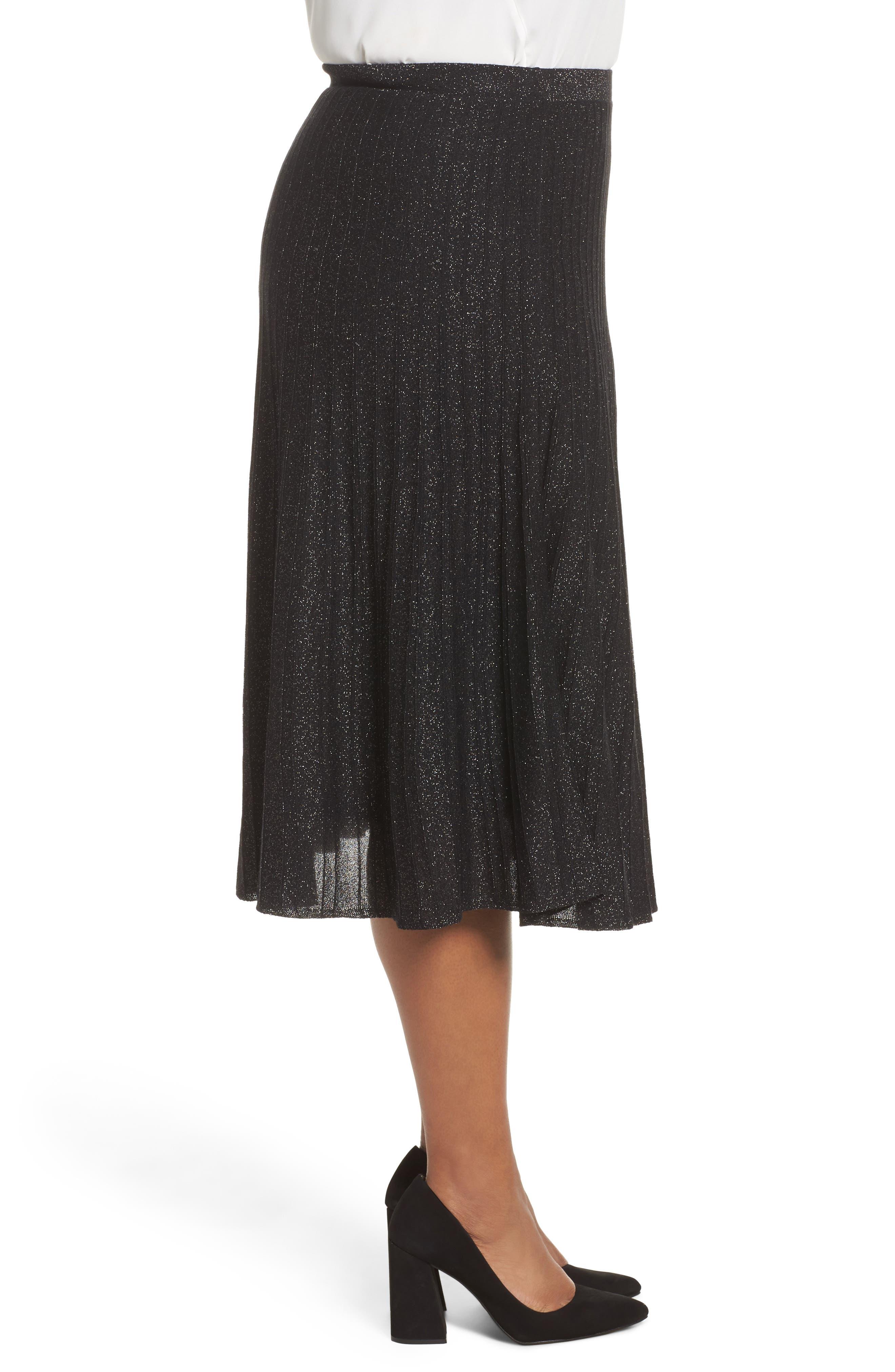 Luminary Skirt,                             Alternate thumbnail 3, color,                             Black Mix