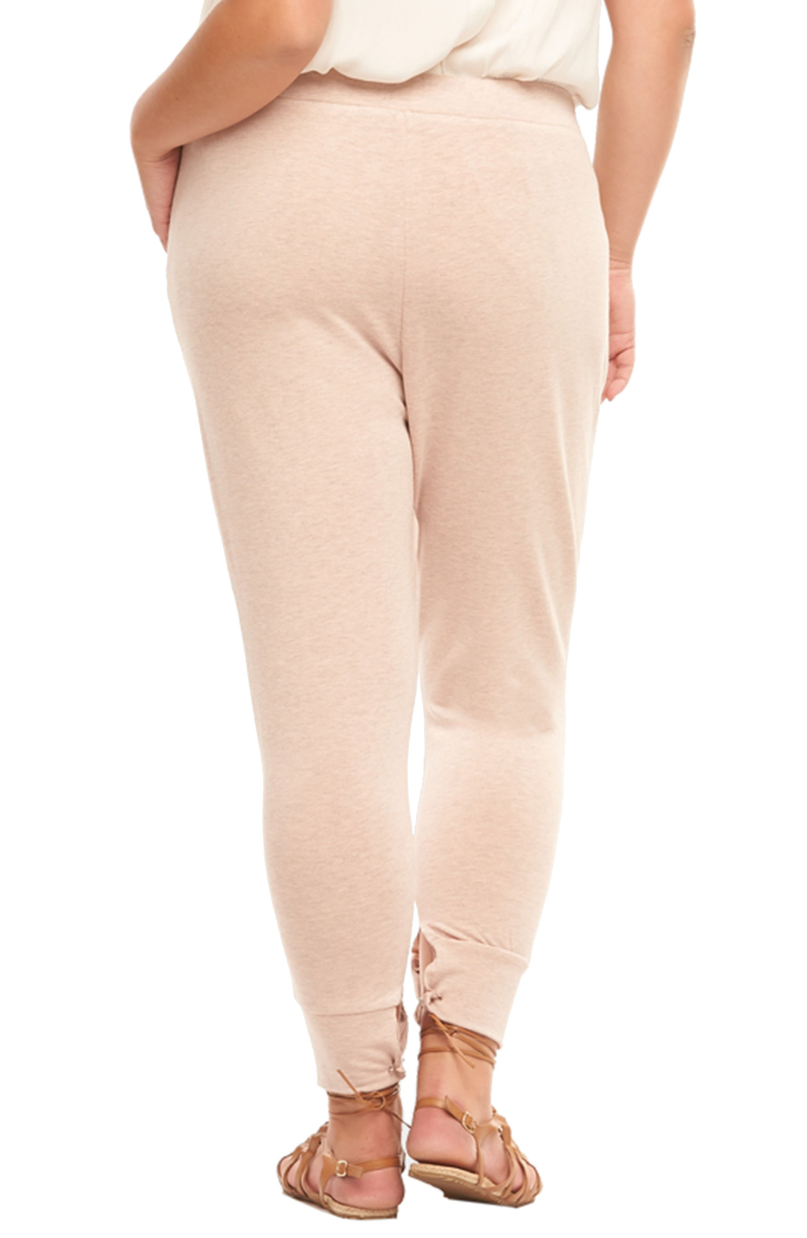 Zadie Jogger Pants,                             Alternate thumbnail 3, color,                             Blush With Rose
