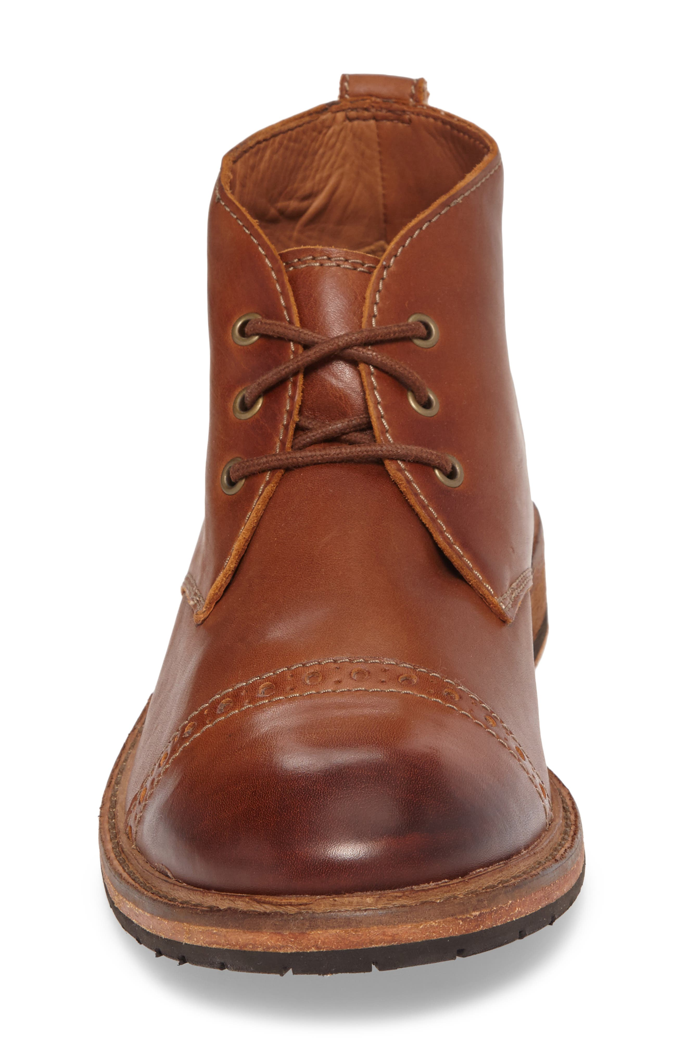 Clarkdale Water Resistant Chukka Boot,                             Alternate thumbnail 4, color,                             Dark Tan Leather
