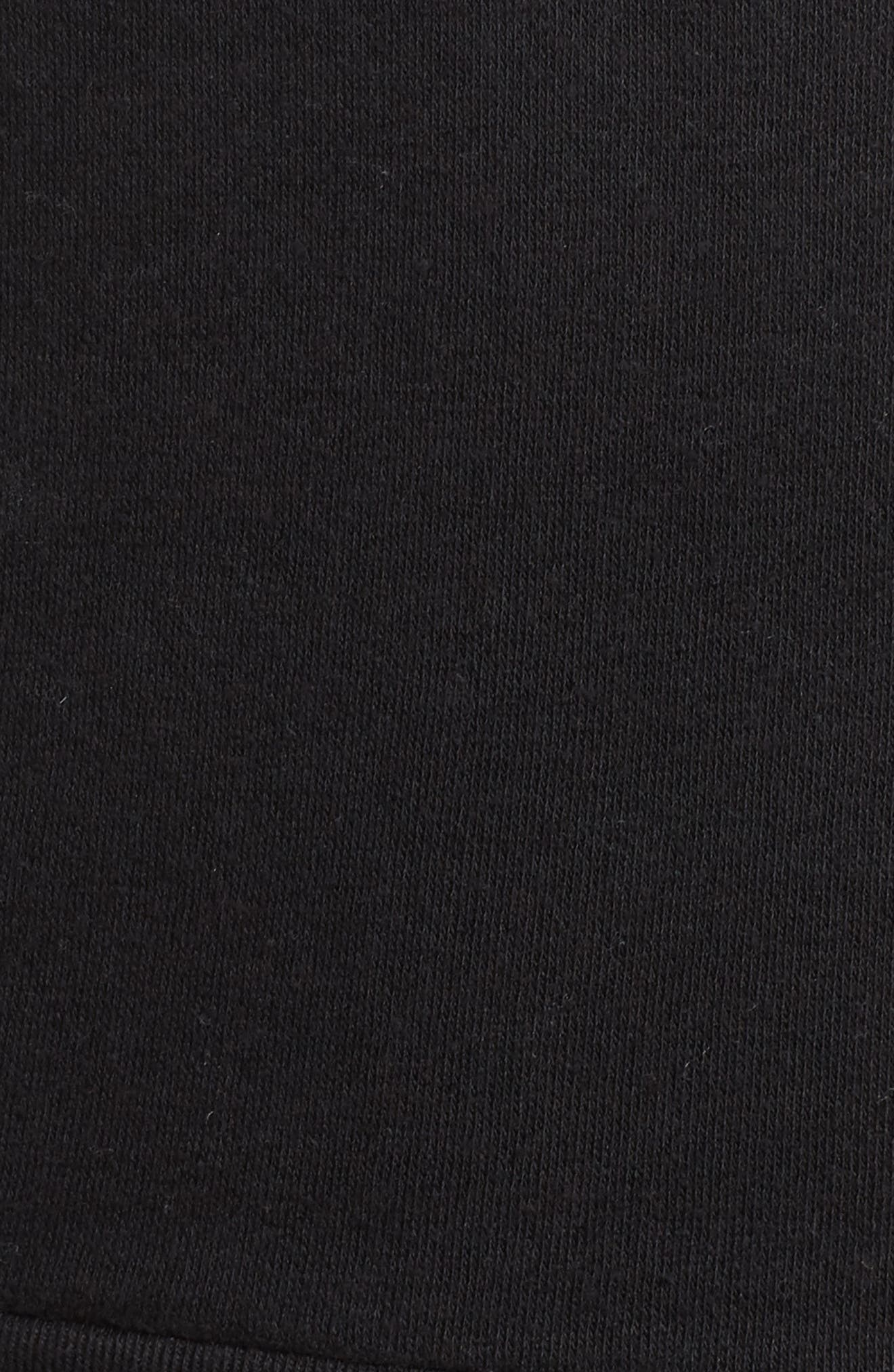 In Pizza We Crust French Terry Sweatshirt,                             Alternate thumbnail 5, color,                             Black
