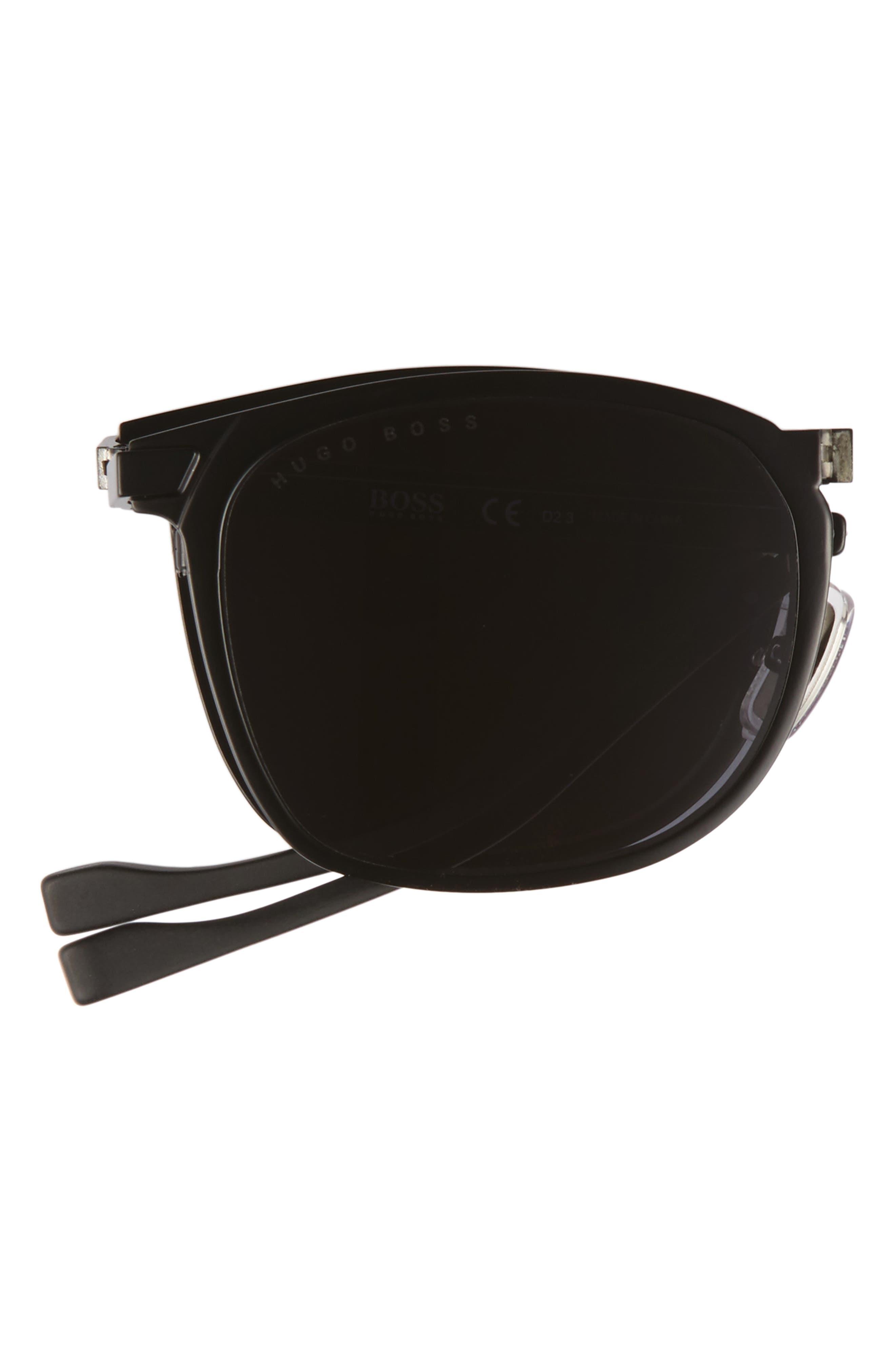 53mm Sunglasses,                             Alternate thumbnail 3, color,                             Matte Black/ Gray
