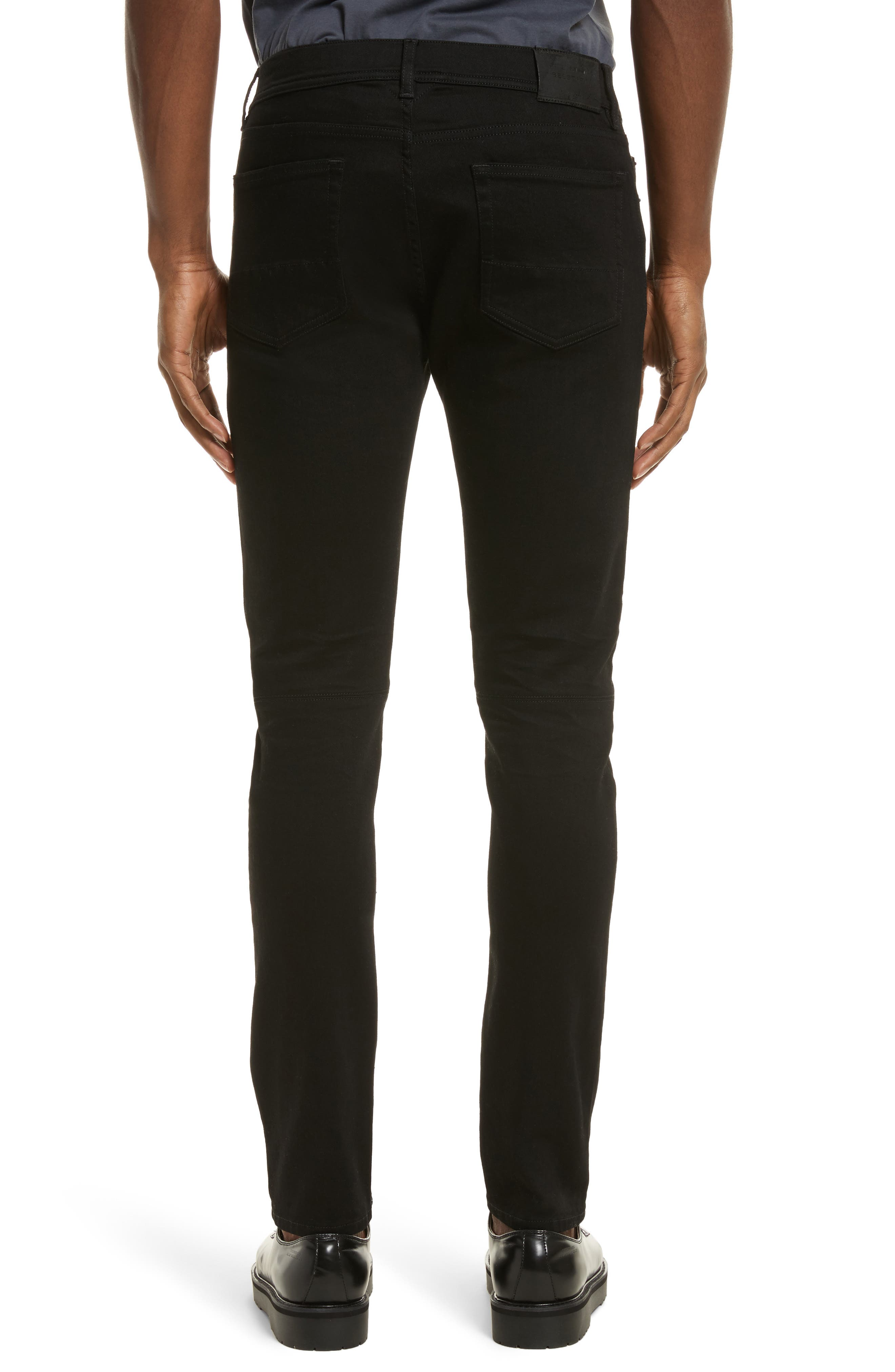 Tattenhall Slim Fit Jeans,                             Alternate thumbnail 2, color,                             Rinse Black