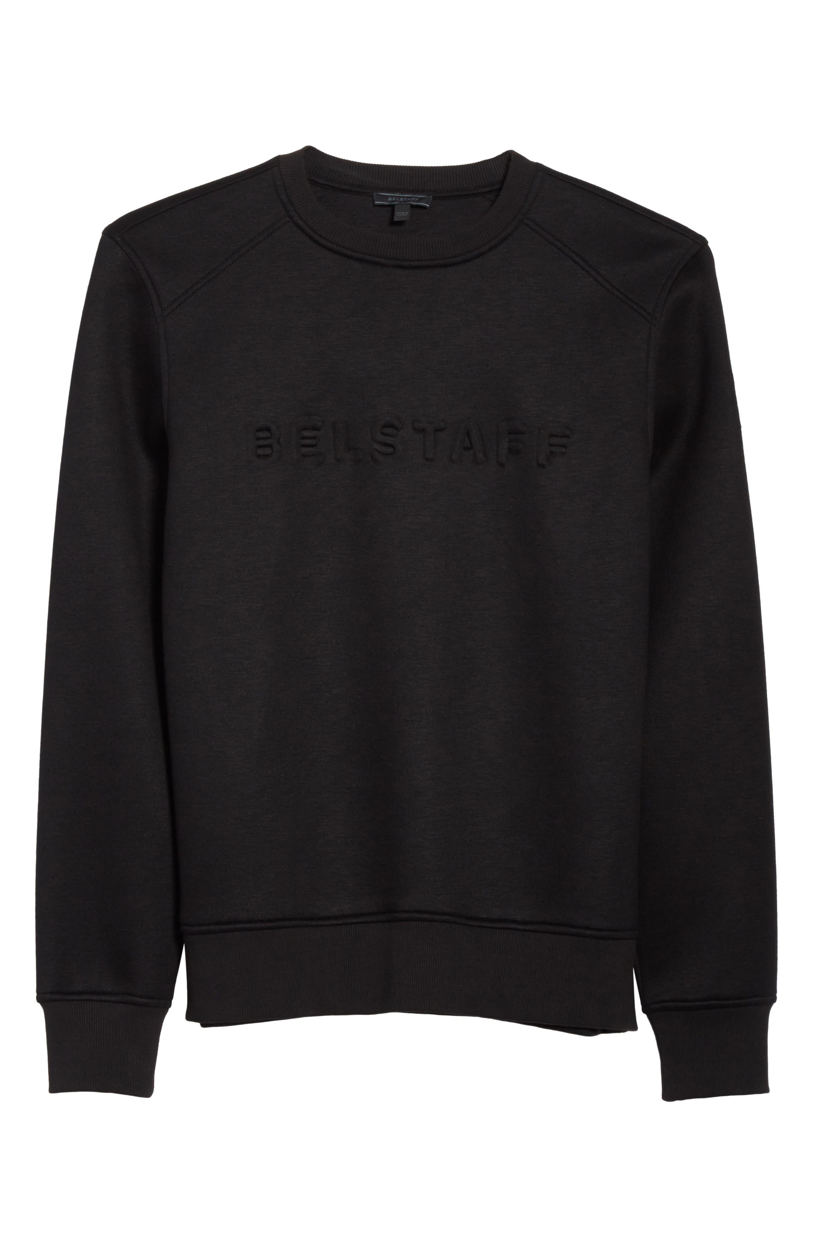 Belsford Crewneck Sweatshirt,                             Alternate thumbnail 6, color,                             Black