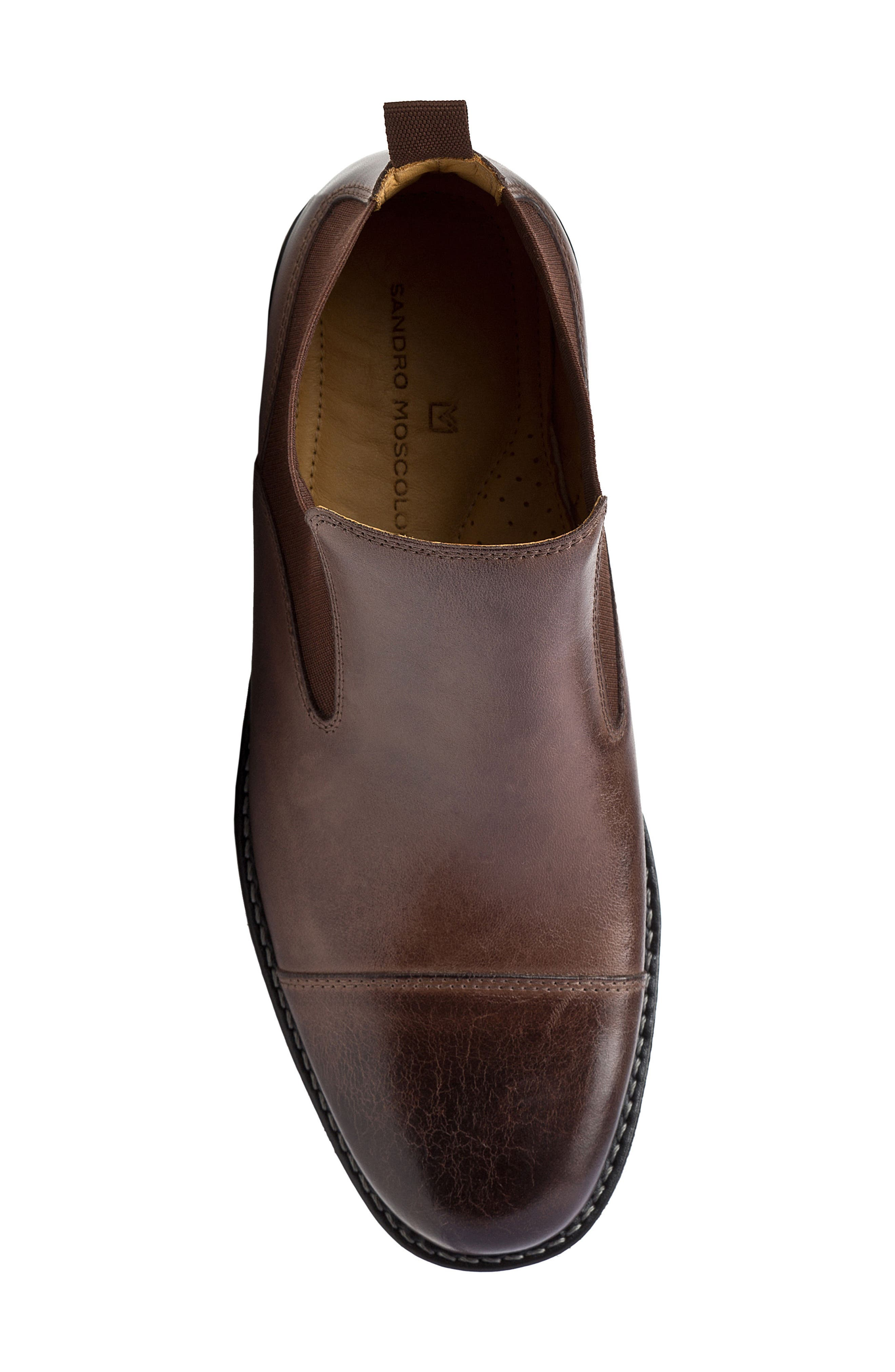 Norbert Chelsea Boot,                             Alternate thumbnail 5, color,                             Brown Leather