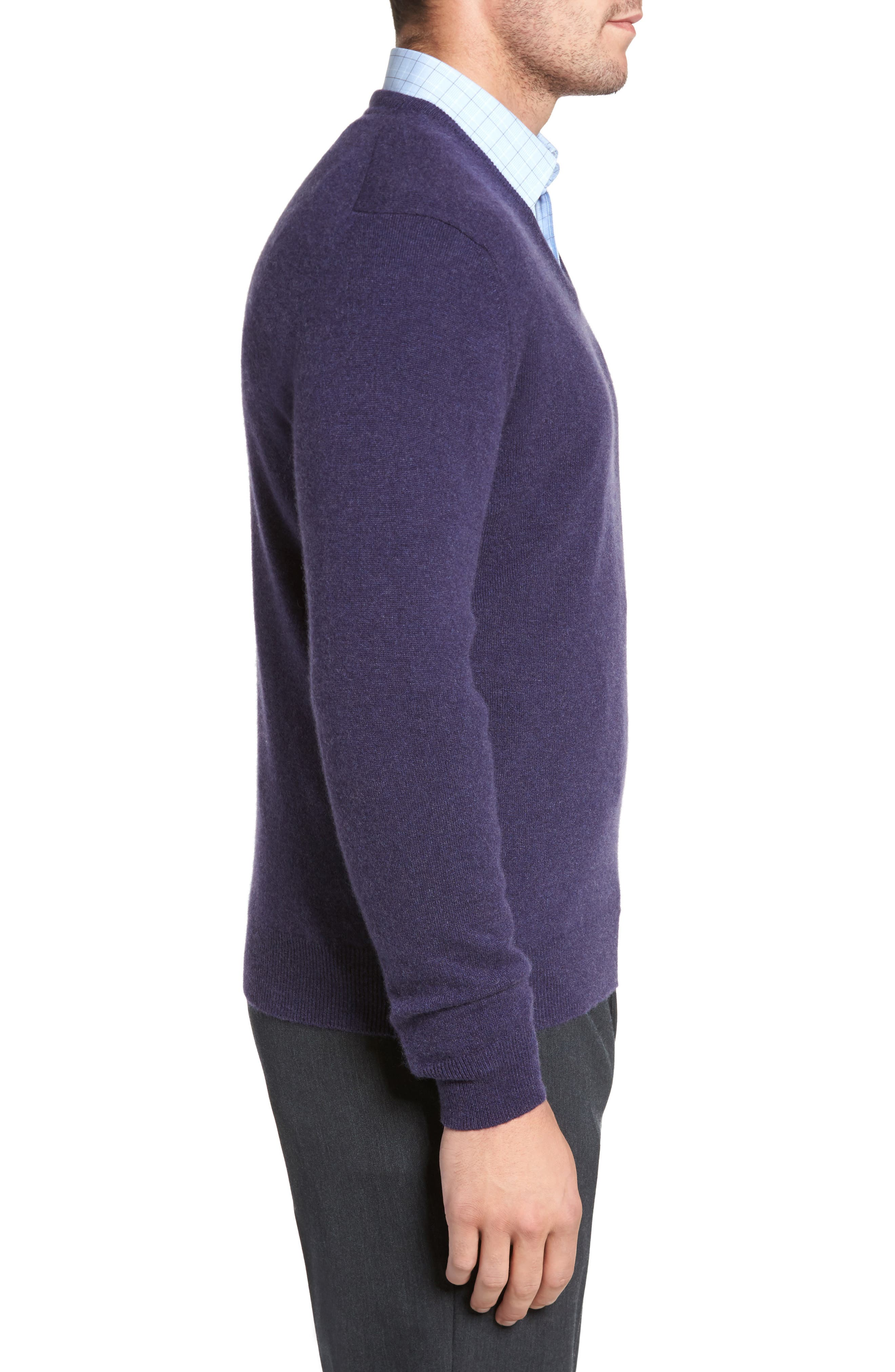 Alternate Image 3  - David Donahue Cashmere V-Neck Sweater