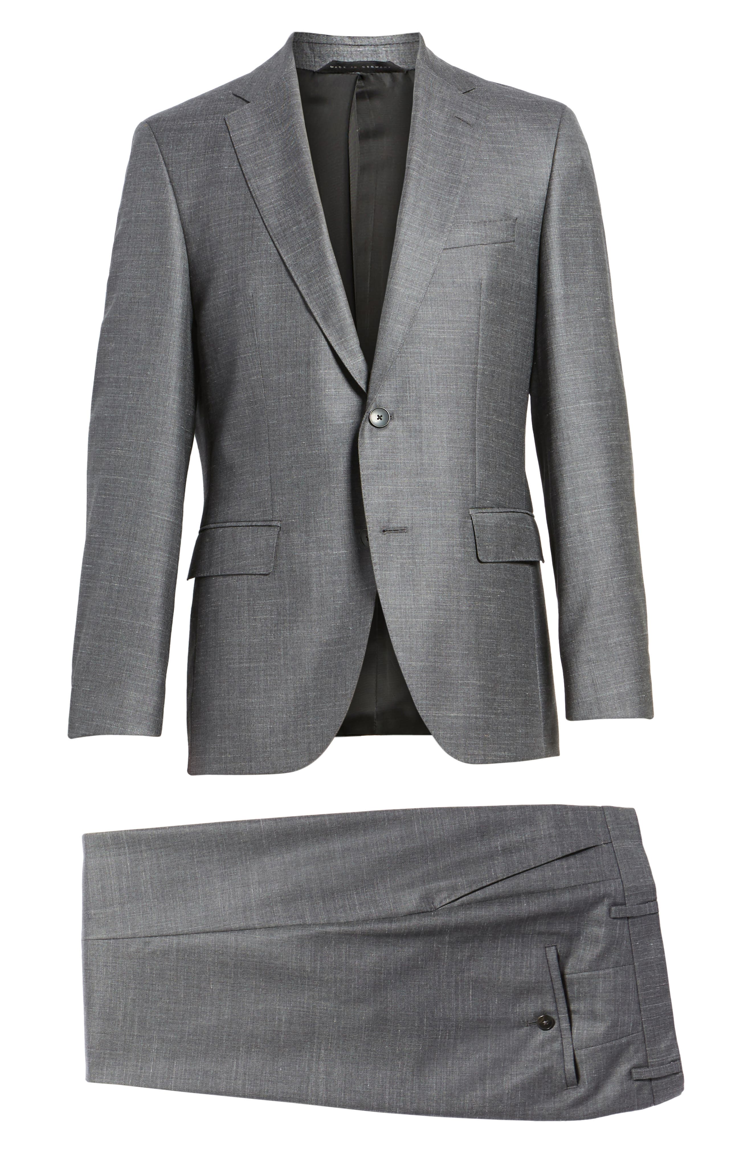 Johnstons/Lenon Classic Fit Solid Wool Blend Suit,                             Alternate thumbnail 8, color,                             Open Grey