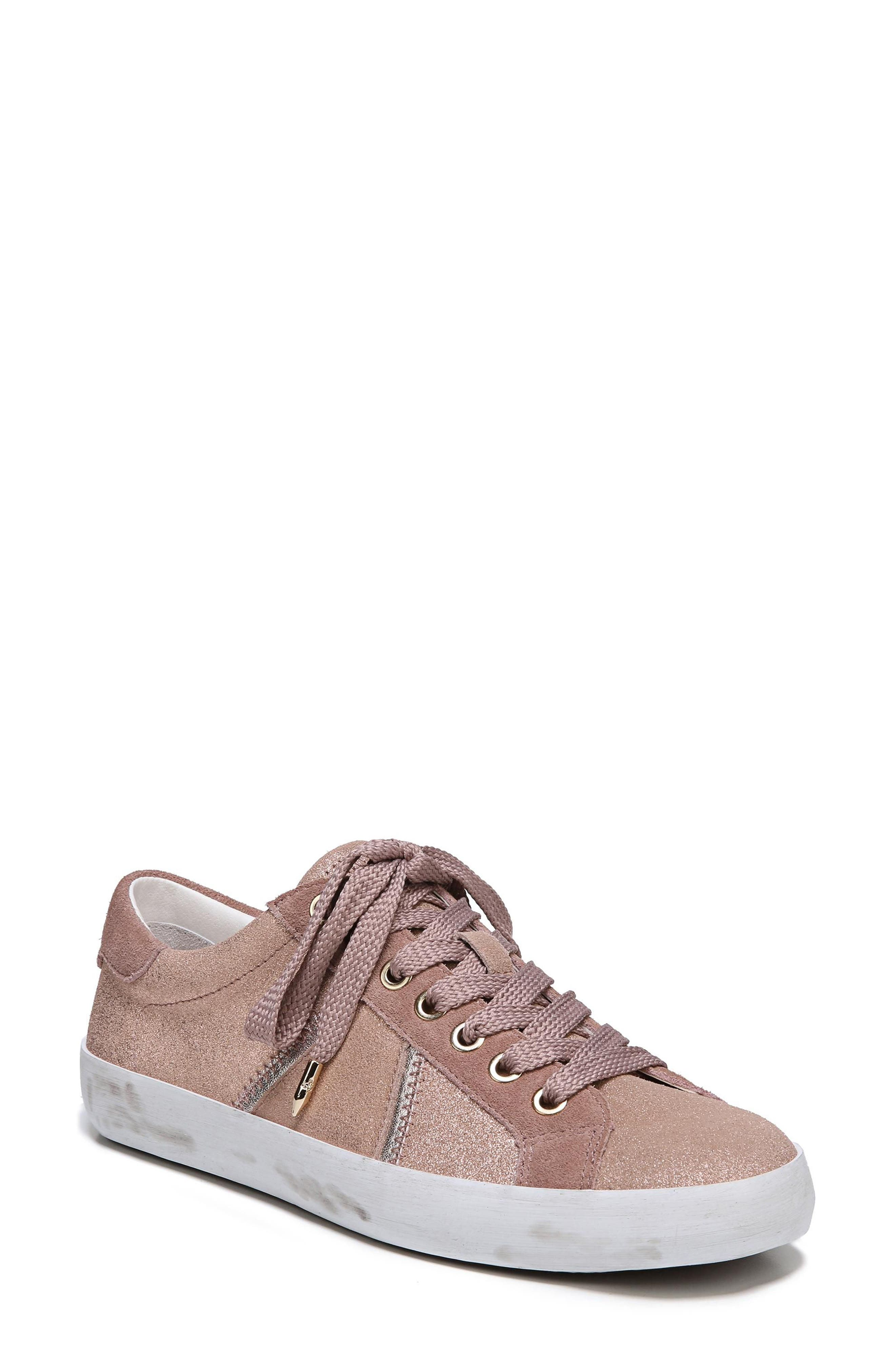 Baylee Sneaker,                             Main thumbnail 1, color,                             Blush Suede