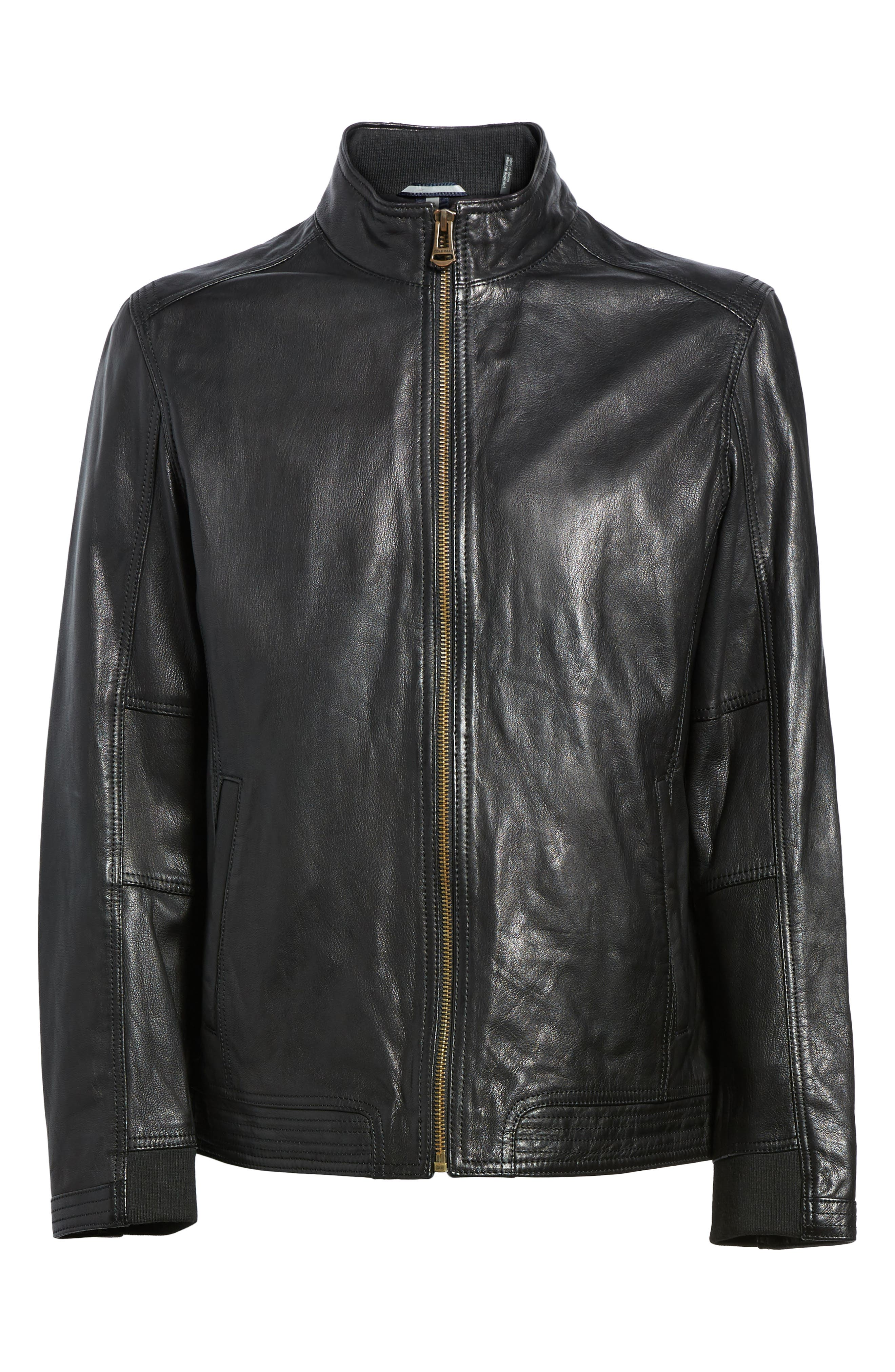 Alternate Image 6  - Cole Haan Washed Leather Jacket