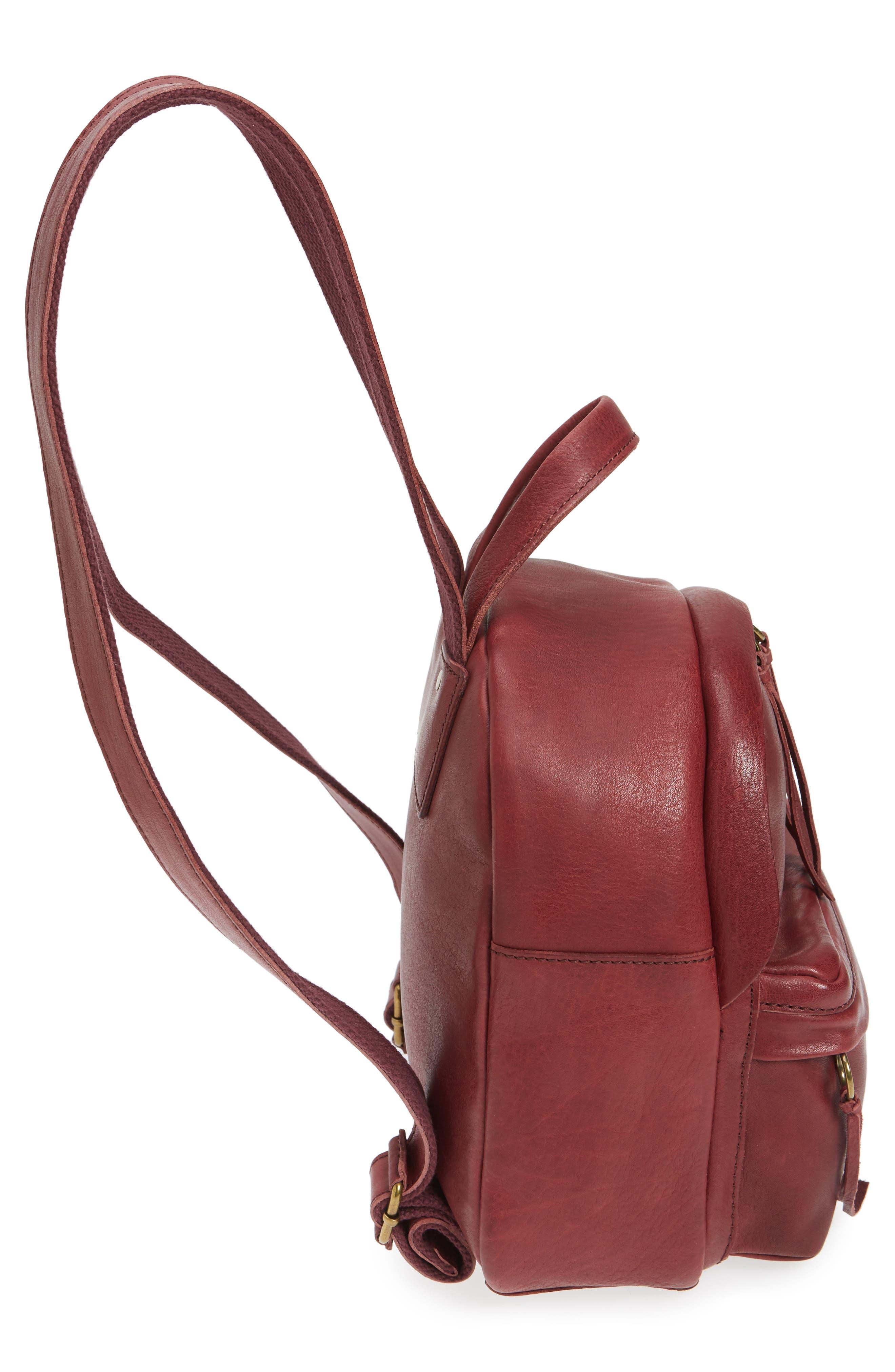 Alternate Image 5  - Madewell Mini Lorimer Leather Backpack
