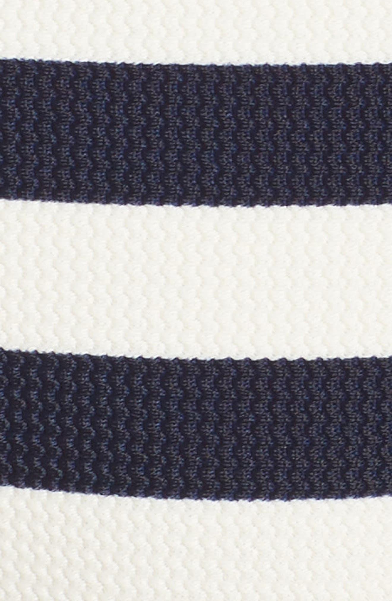 Textured Stripe Hipster Bikini Bottoms,                             Alternate thumbnail 6, color,                             Navy