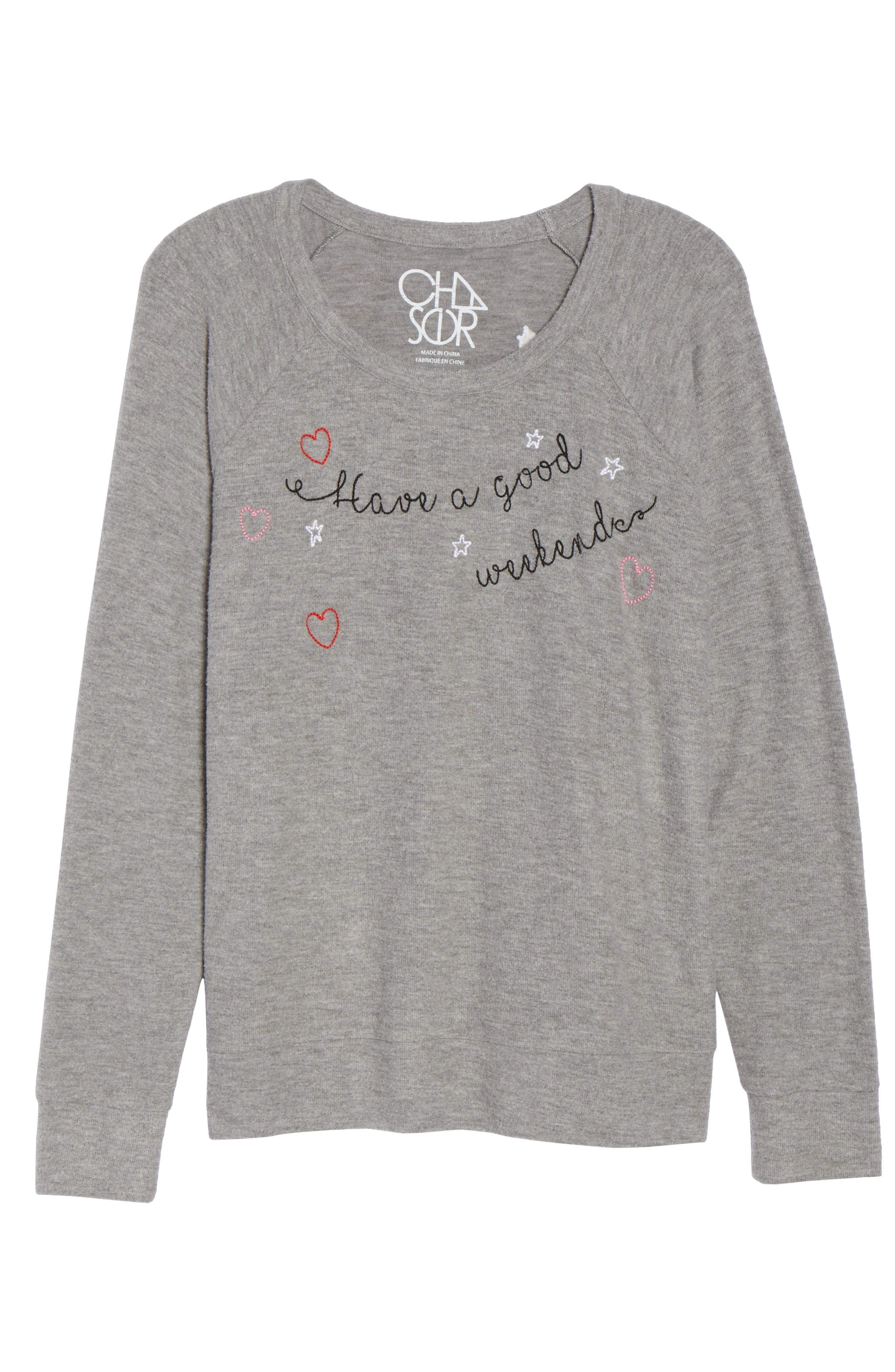 Love Knit Raglan Sweater,                             Alternate thumbnail 4, color,                             Heather Grey