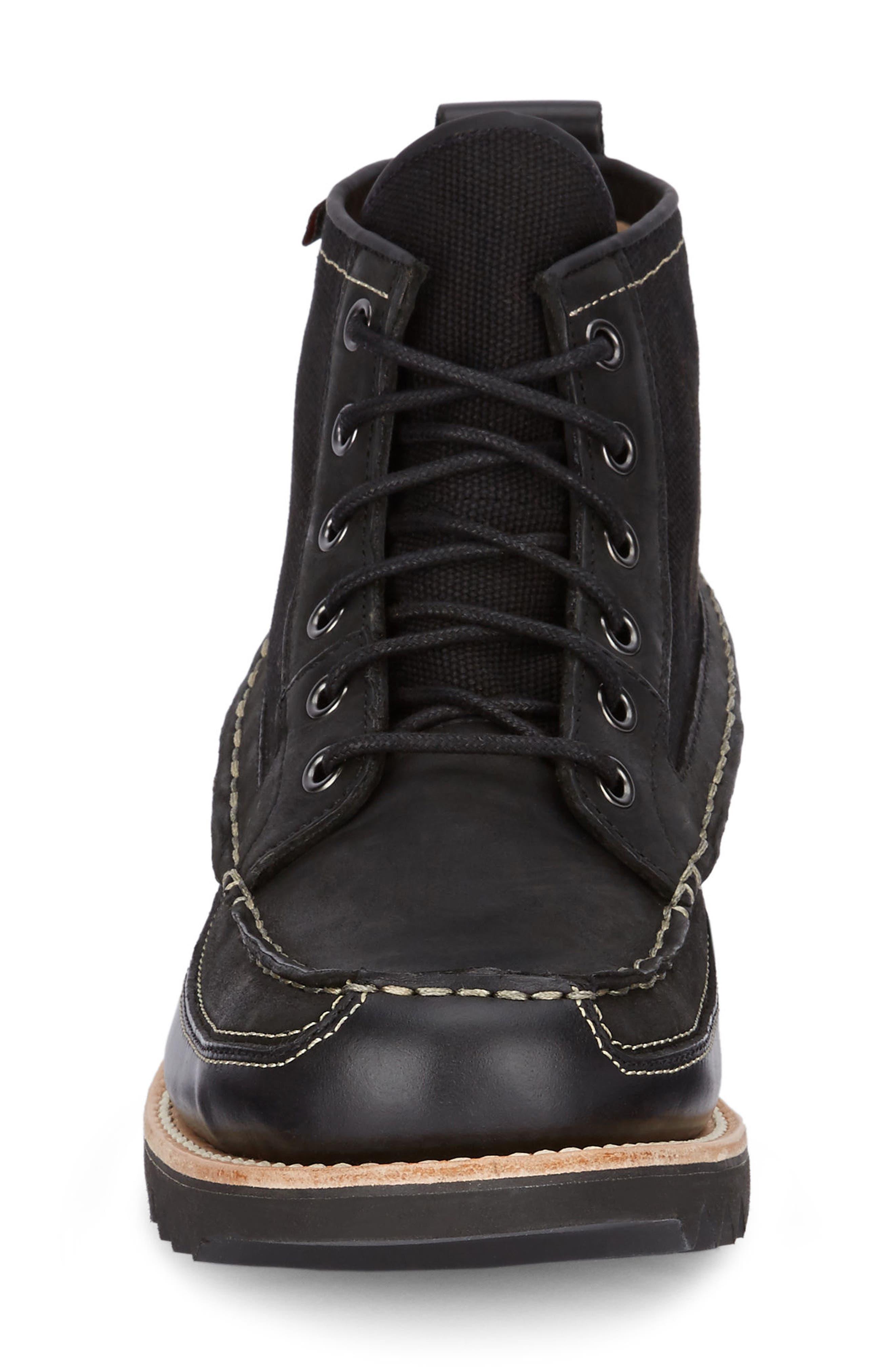 Nickson Razor Moc Toe Boot,                             Alternate thumbnail 4, color,                             Black