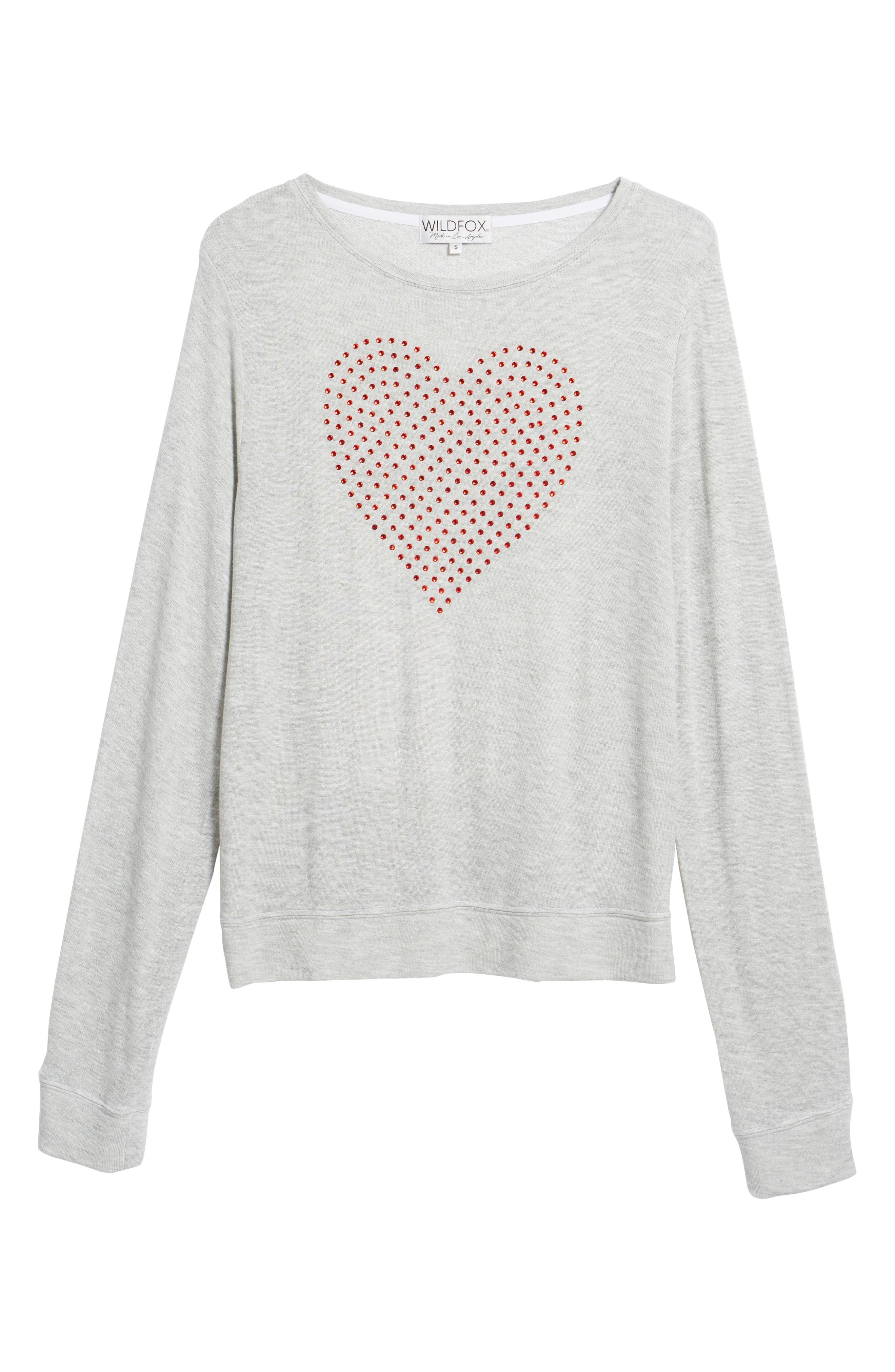 Glitz Heart Baggy Beach Pullover,                             Alternate thumbnail 6, color,                             Heather