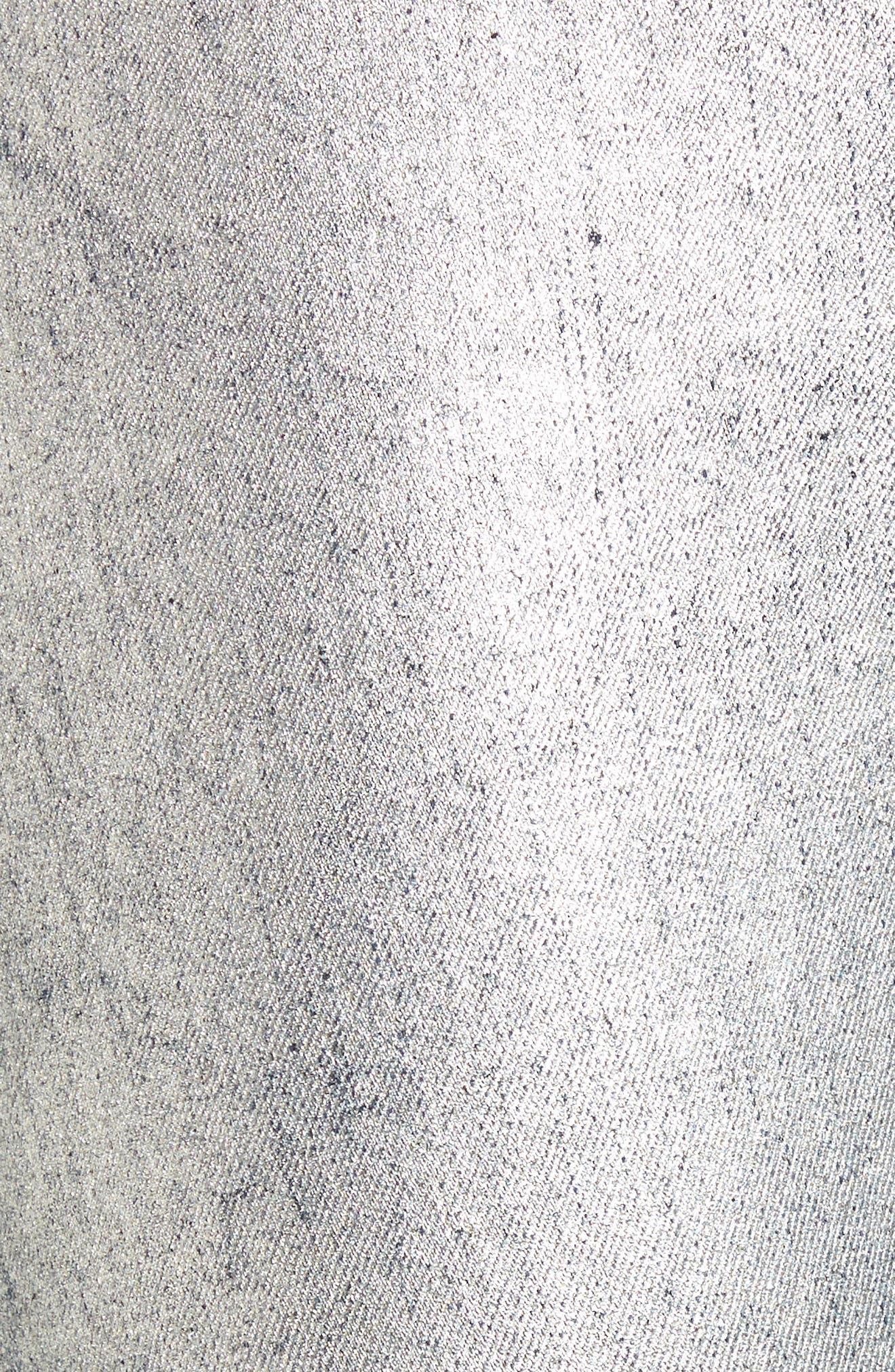 Kidds Metallic Drop Crotch Skinny Jeans,                             Alternate thumbnail 5, color,                             Nightshade