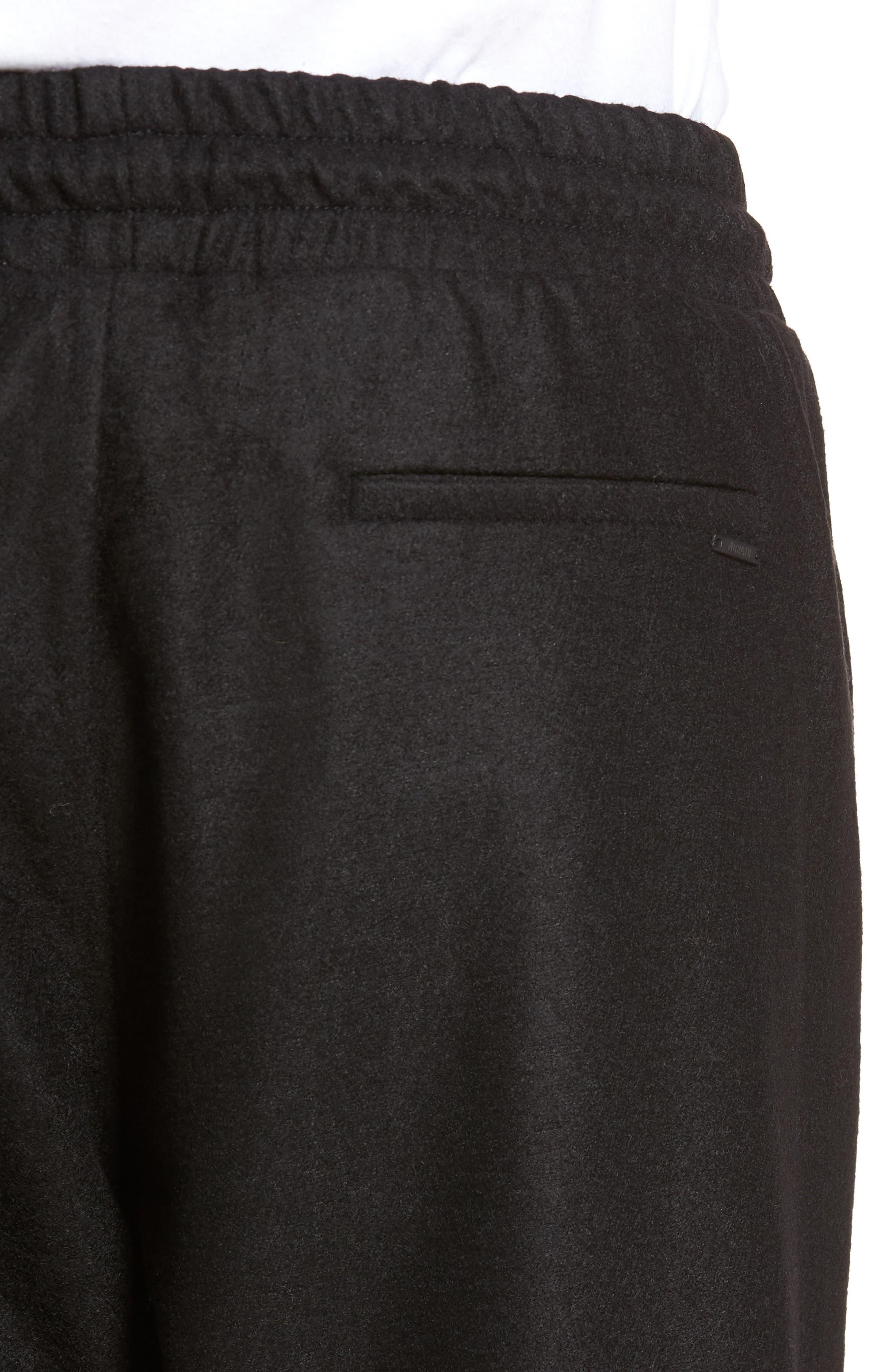 Drawstring Waist Pants,                             Alternate thumbnail 4, color,                             Black