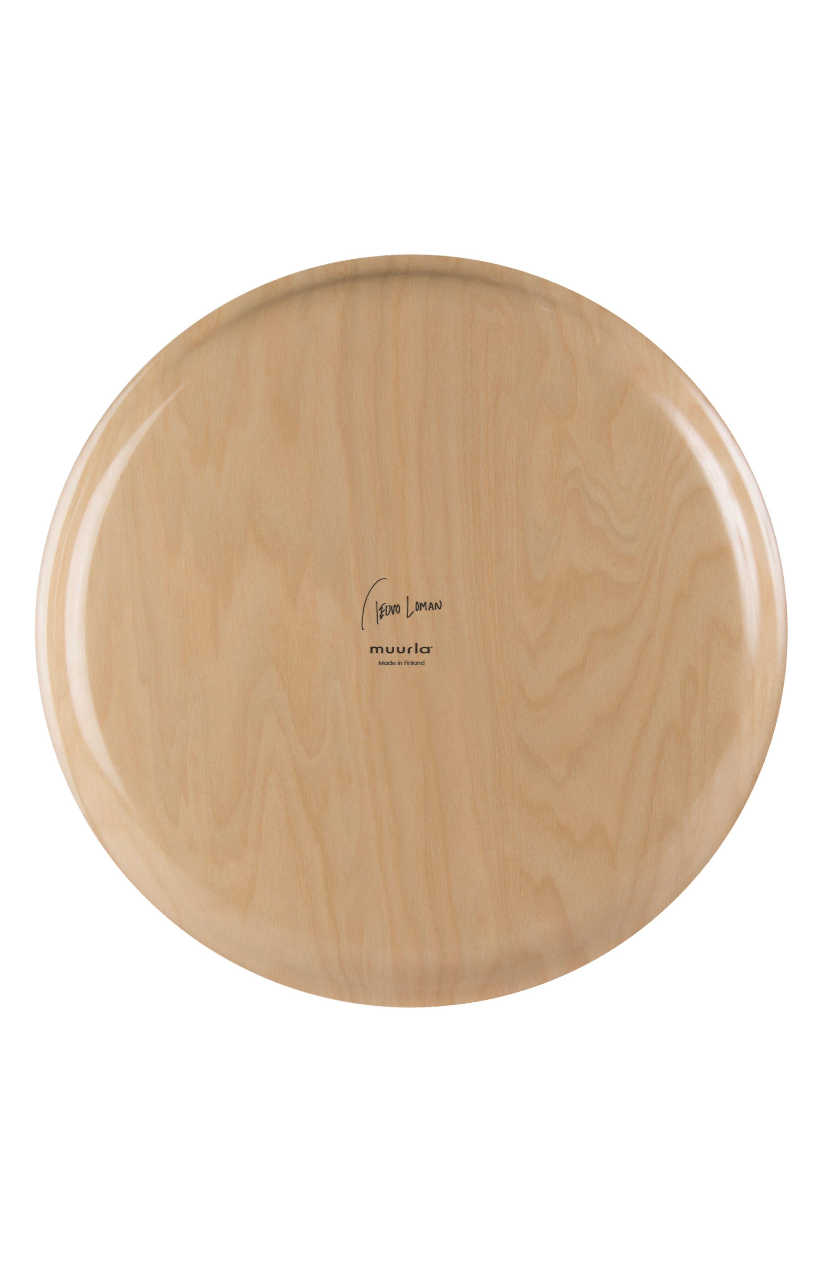 Alternate Image 2  - Muurla Round Birch & Melamine Serving Tray