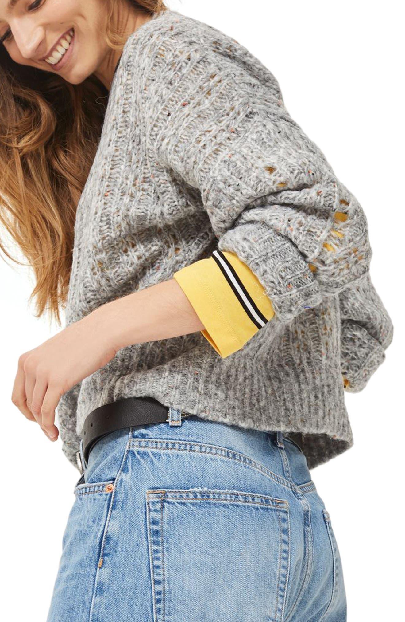 Alternate Image 4  - Topshop Soft Nep Sweater