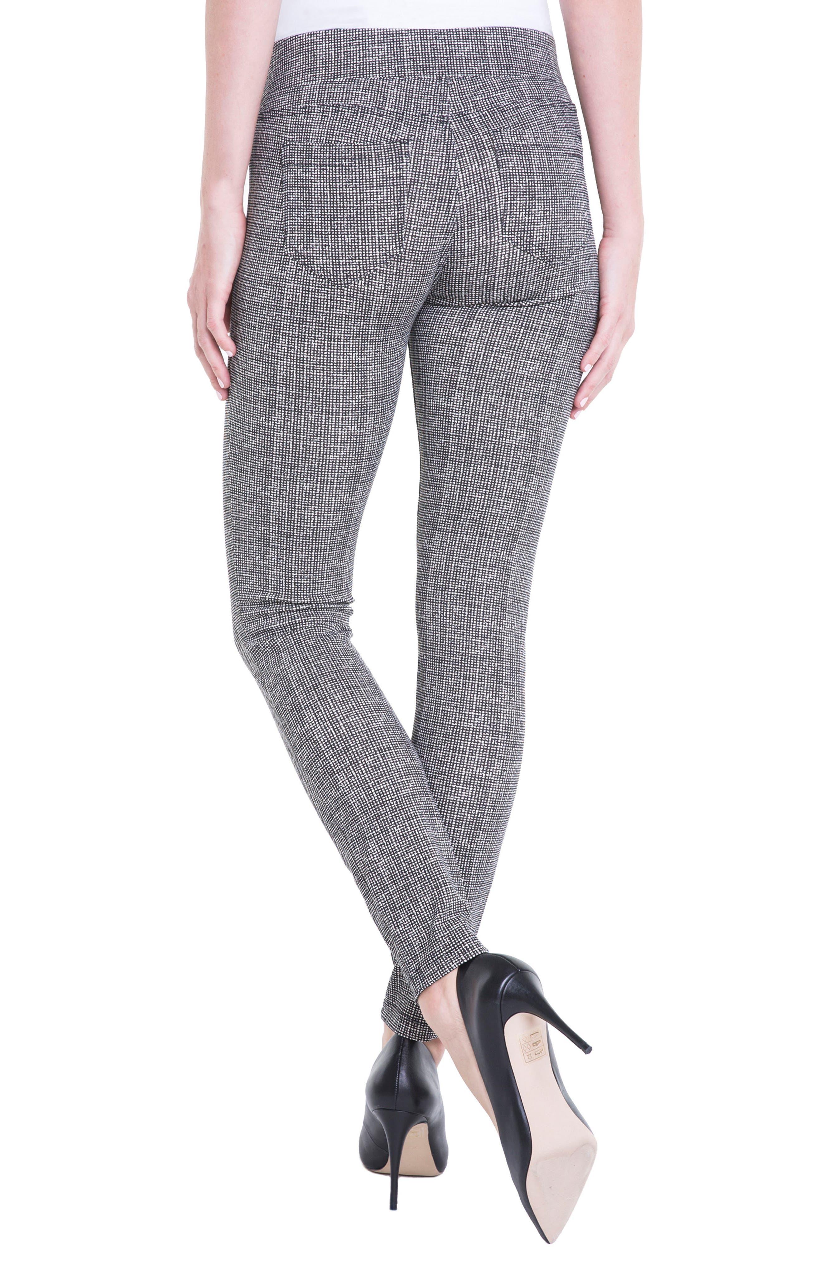 Sienna Pull-On Leggings,                             Alternate thumbnail 4, color,                             White Whisper Tweed