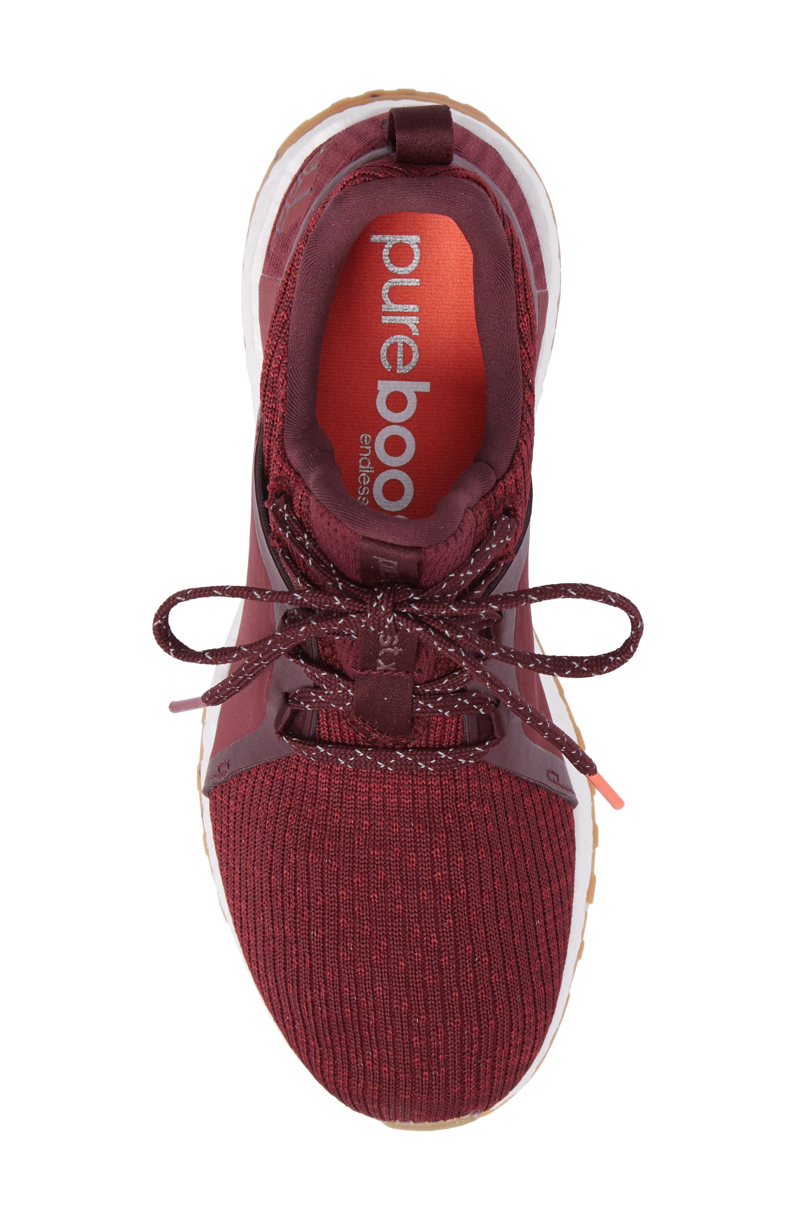 PureBoost X ATR Running Shoe,                             Alternate thumbnail 6, color,                             Red Night/ Ruby/ Easy Coral