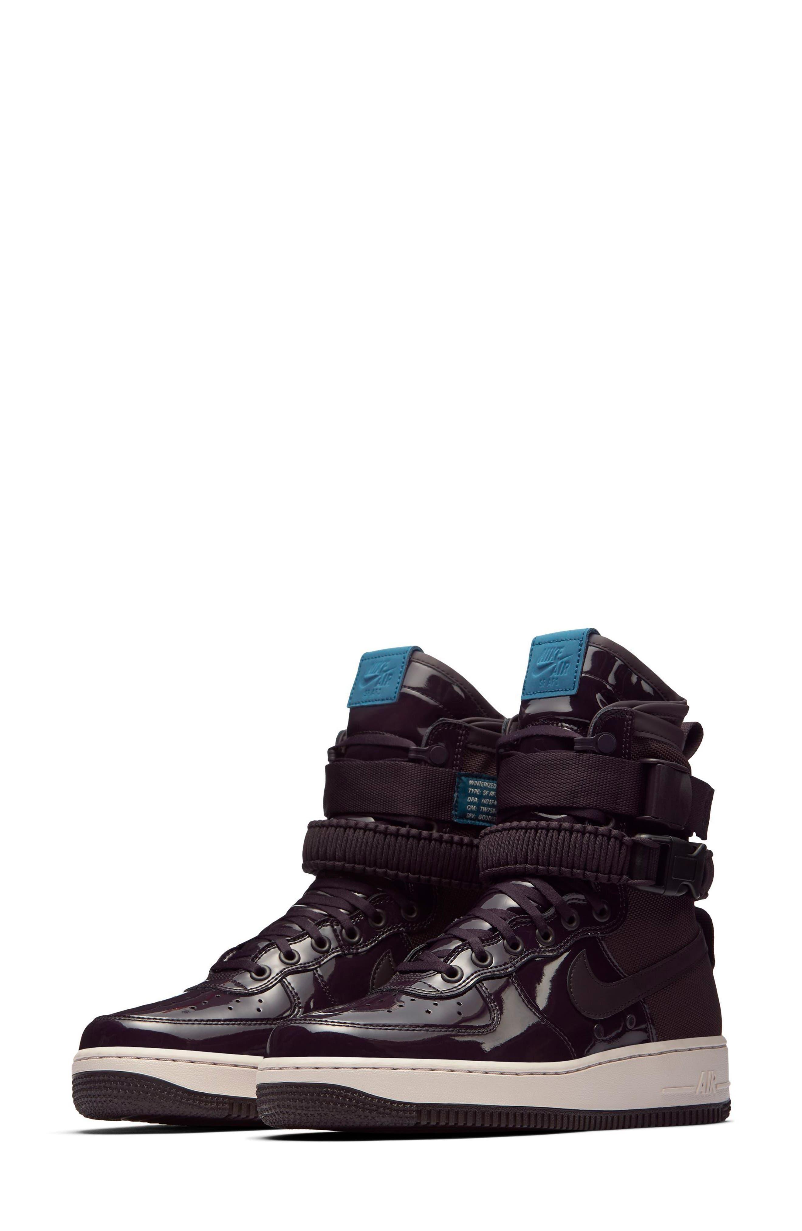 SF Air Force 1 High Top Sneaker,                         Main,                         color, Port Wine/ Port Wine