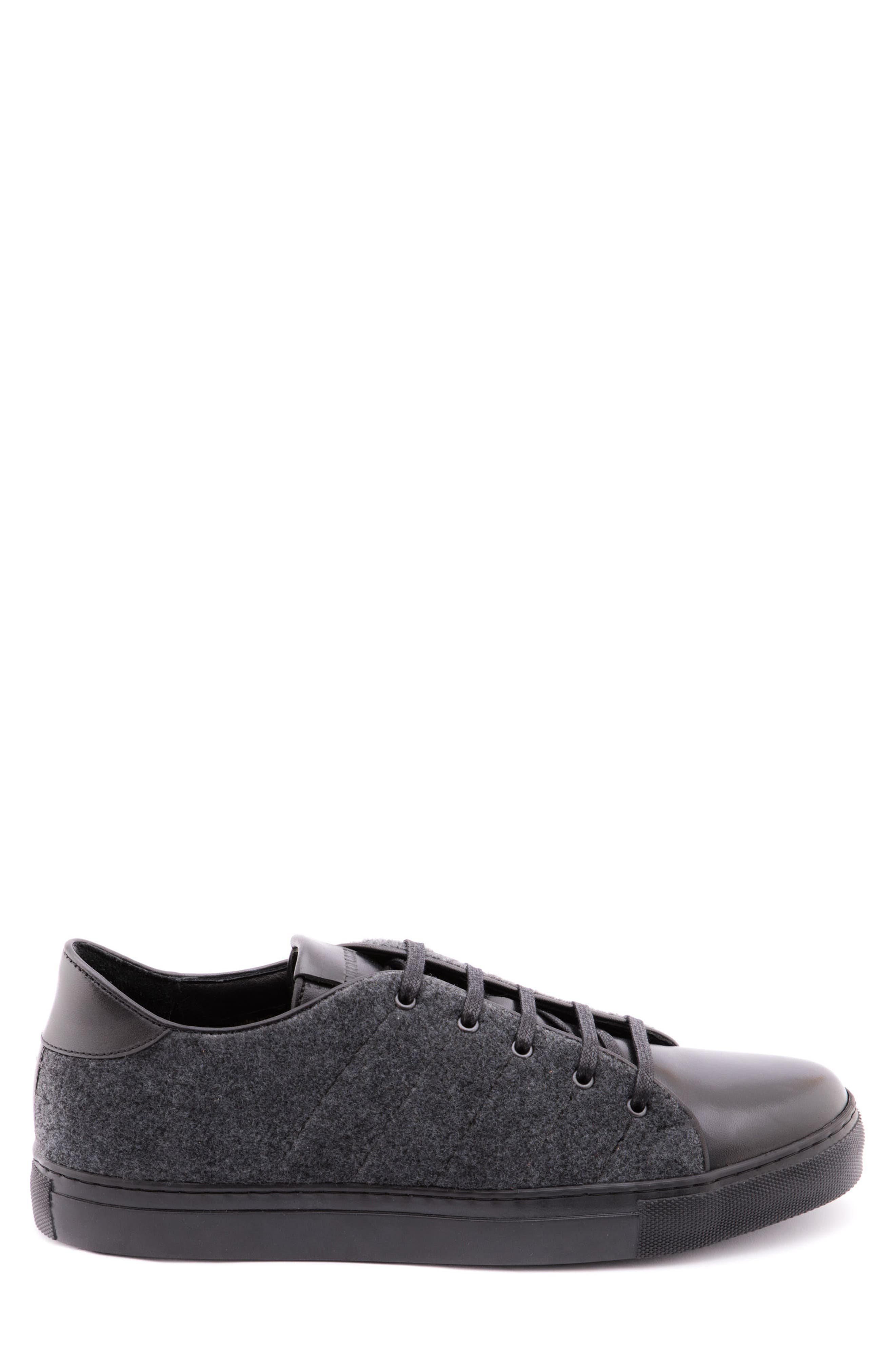 Travis Leather Sneaker,                             Alternate thumbnail 3, color,                             Grey